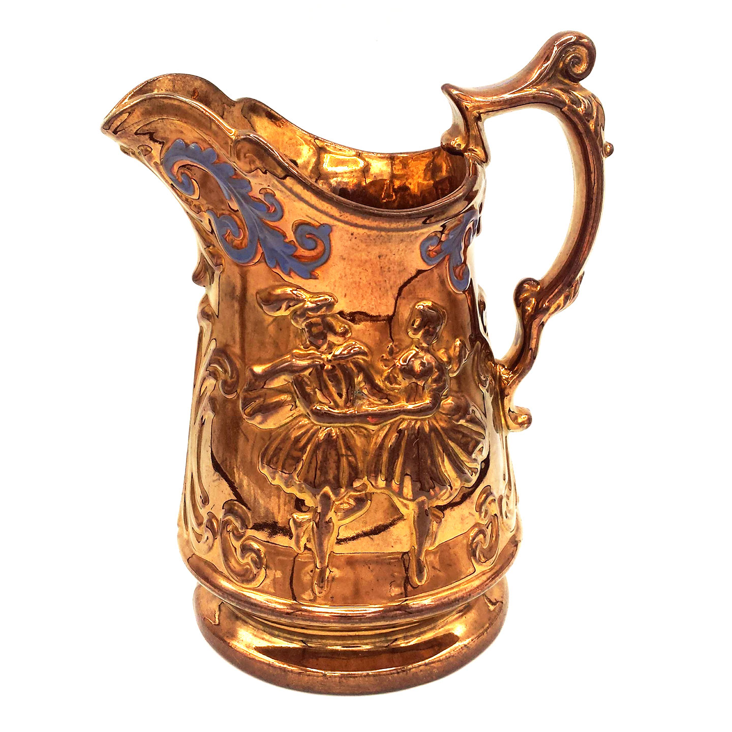 Dancing Couple Copper Jug