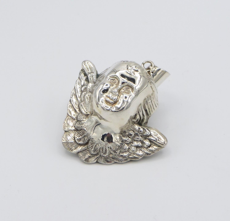 Silver Cherub Pendant
