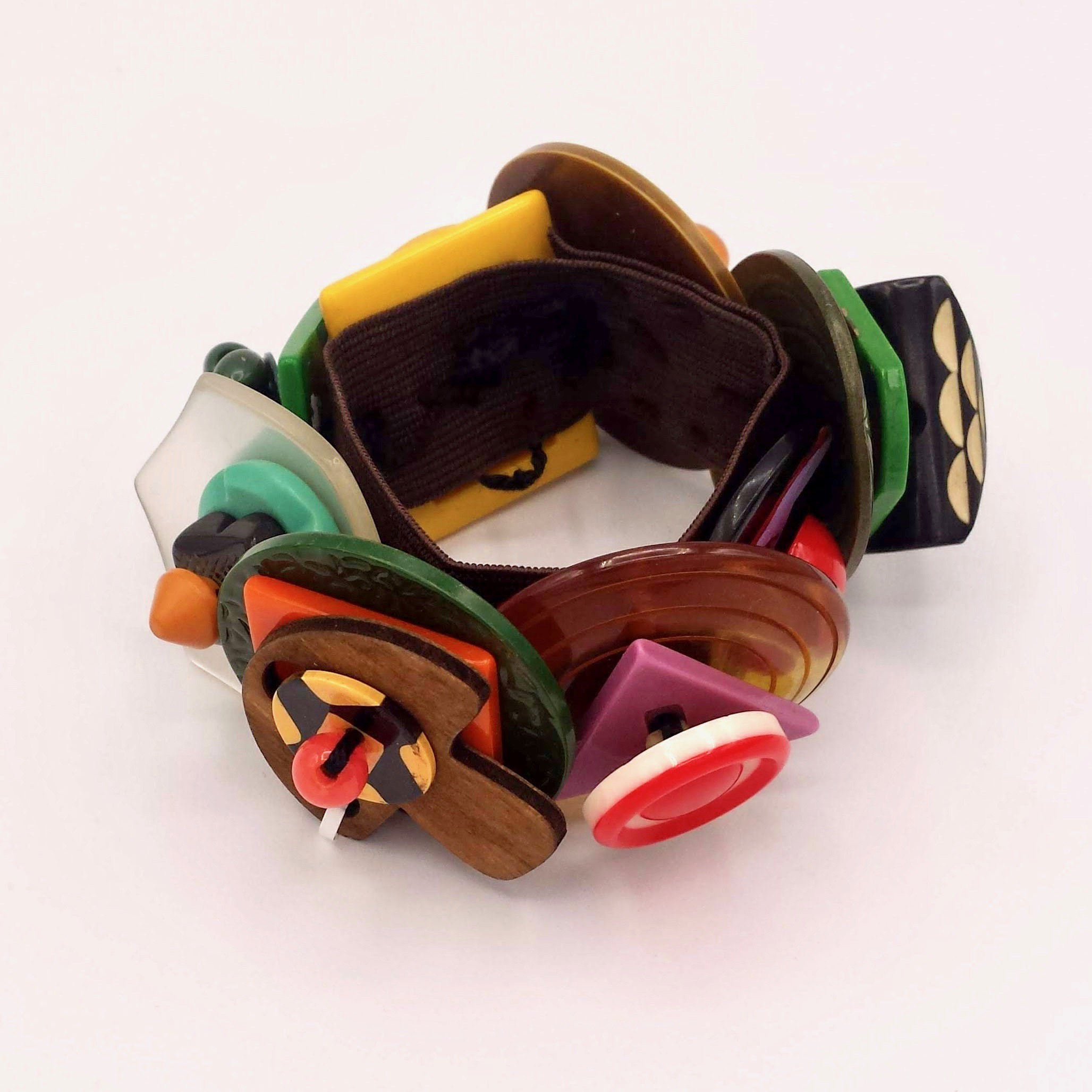 Composition Bracelet (Bakelite, Lucite and Wood)