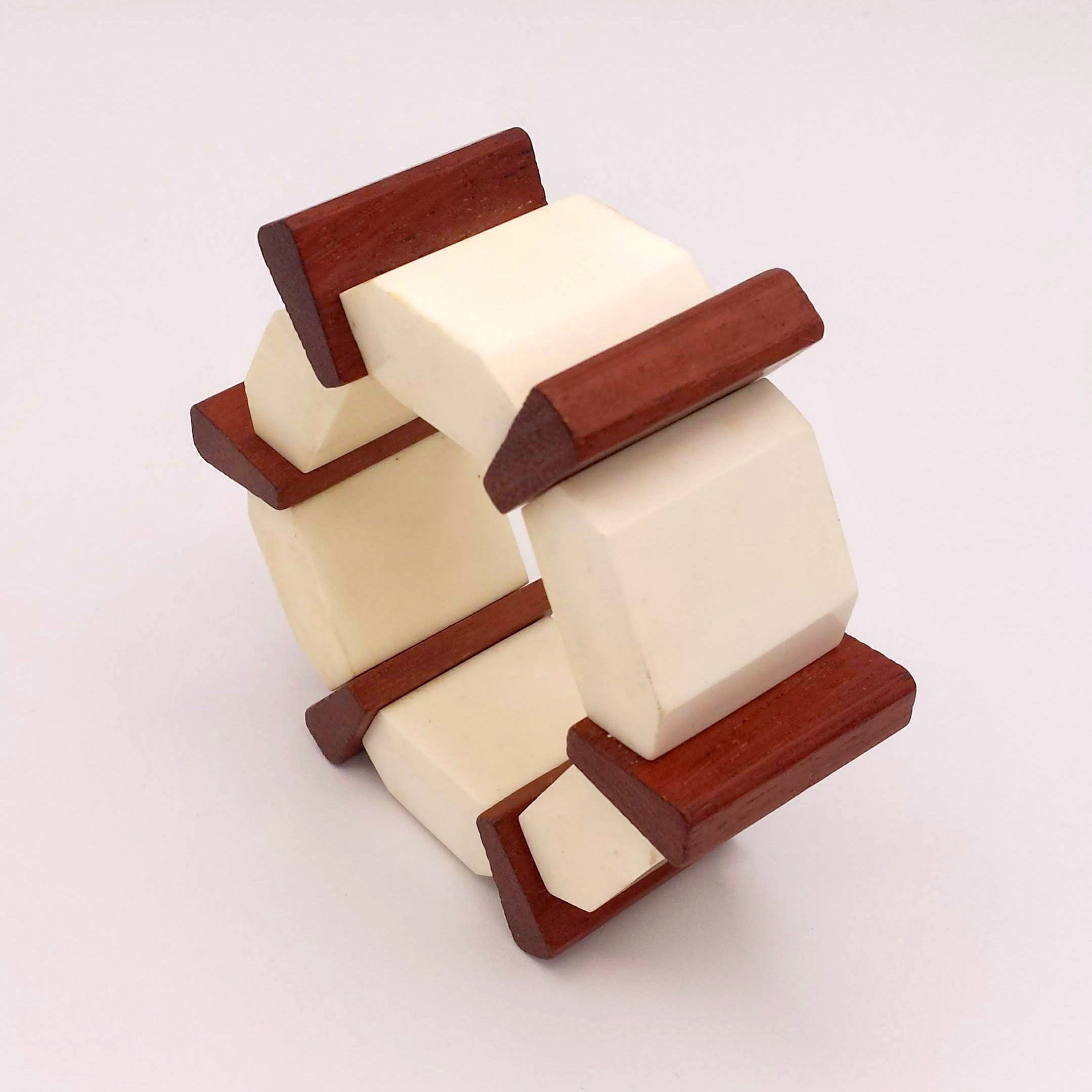 Lucite and Wood Bracelet