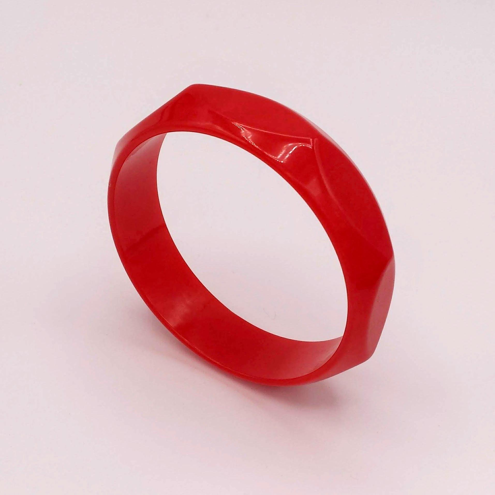 Red Bakelite Bracelet