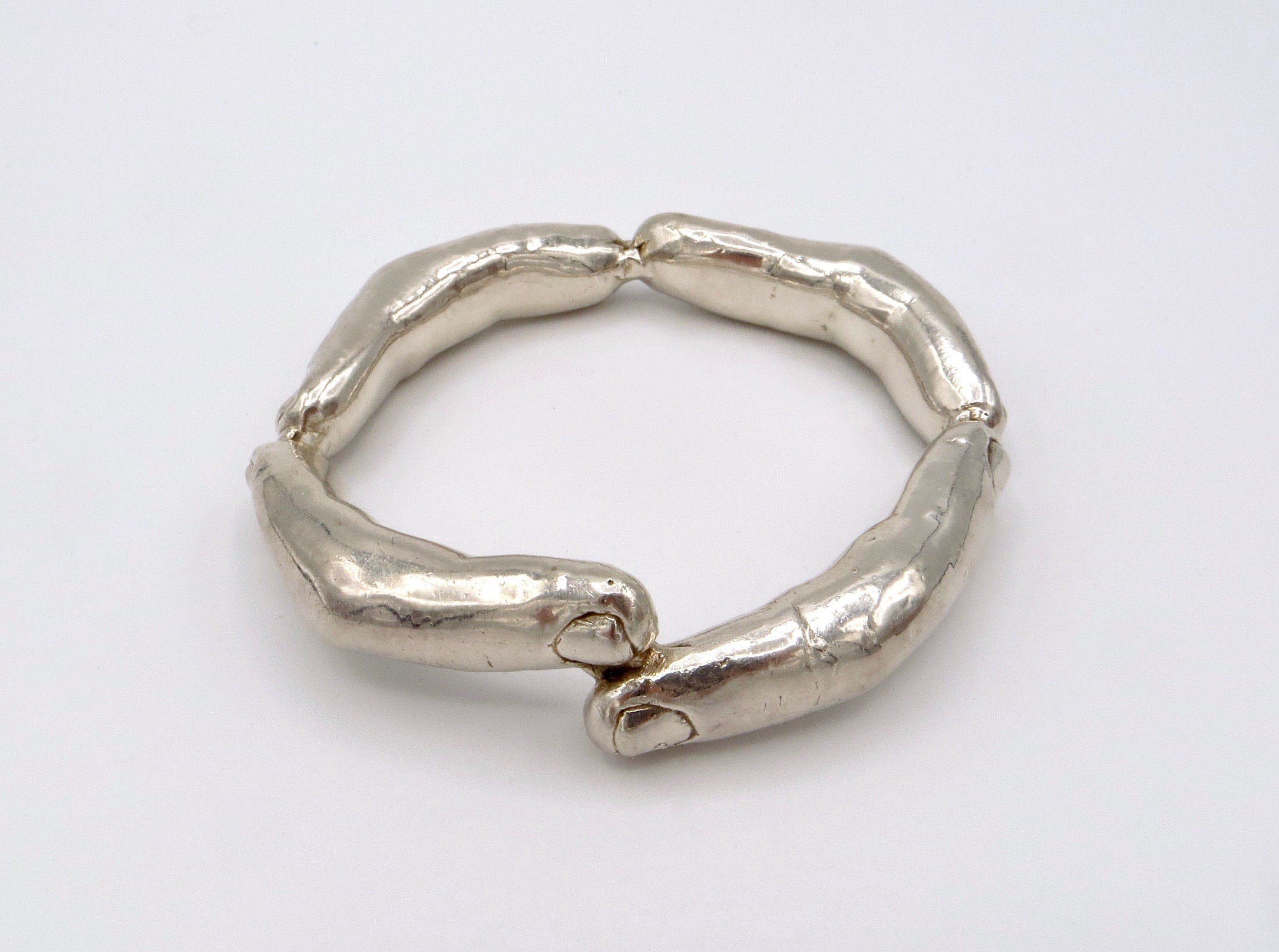 Figural Silver Bracelet