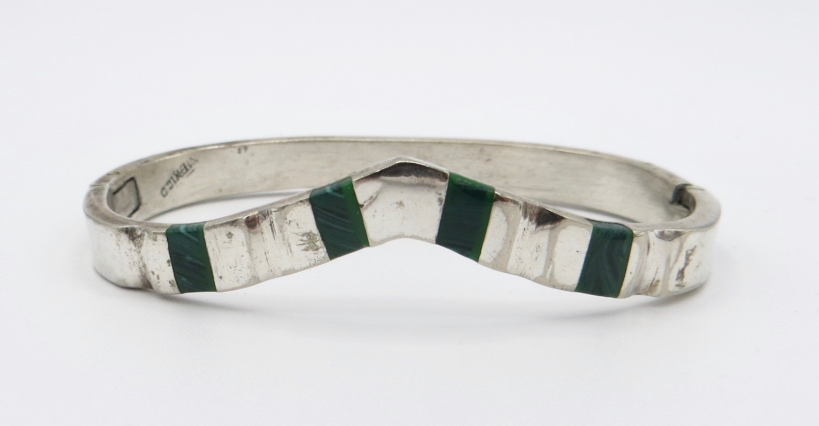 Silver Malachite Bracelet