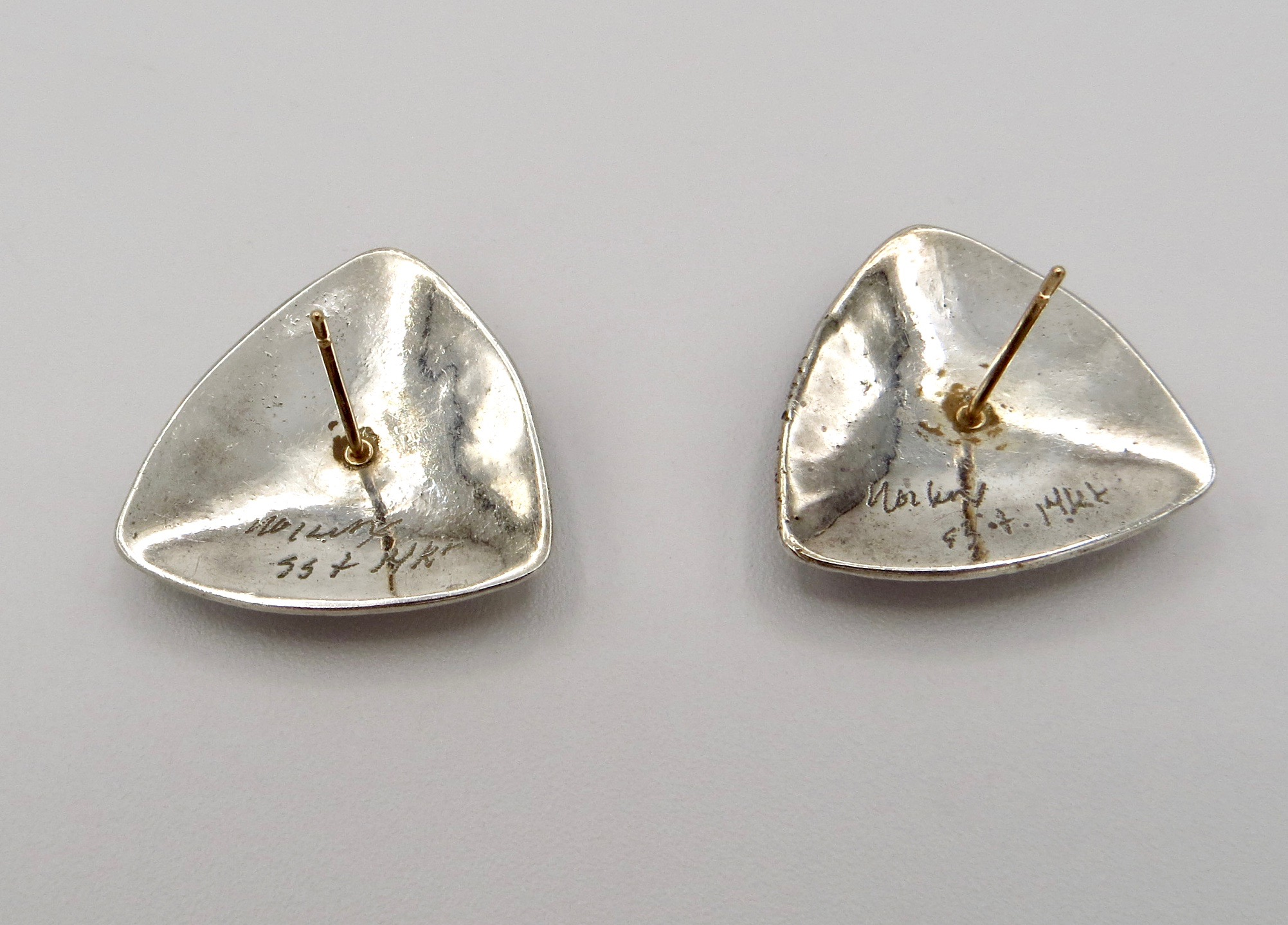 Sterling & 14kt Studs with Stones