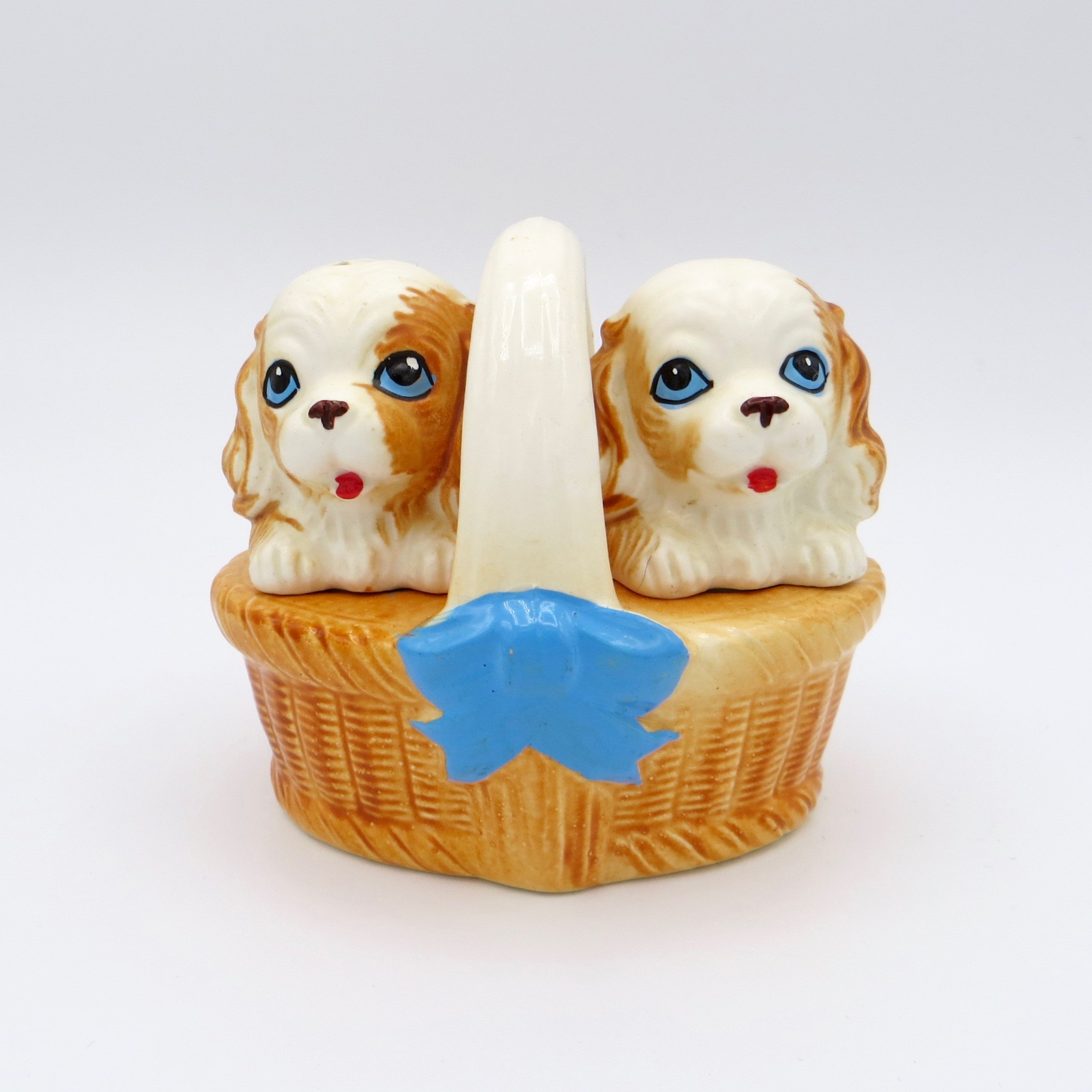 Puppies in a Basket Salt & Pepper