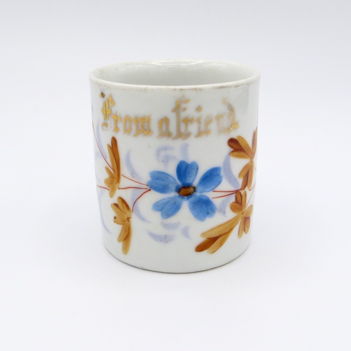 "Victorian ""From a Friend"" Mug"