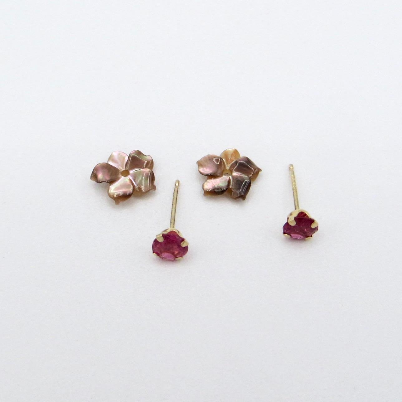 Gold & Tourmaline Earrings