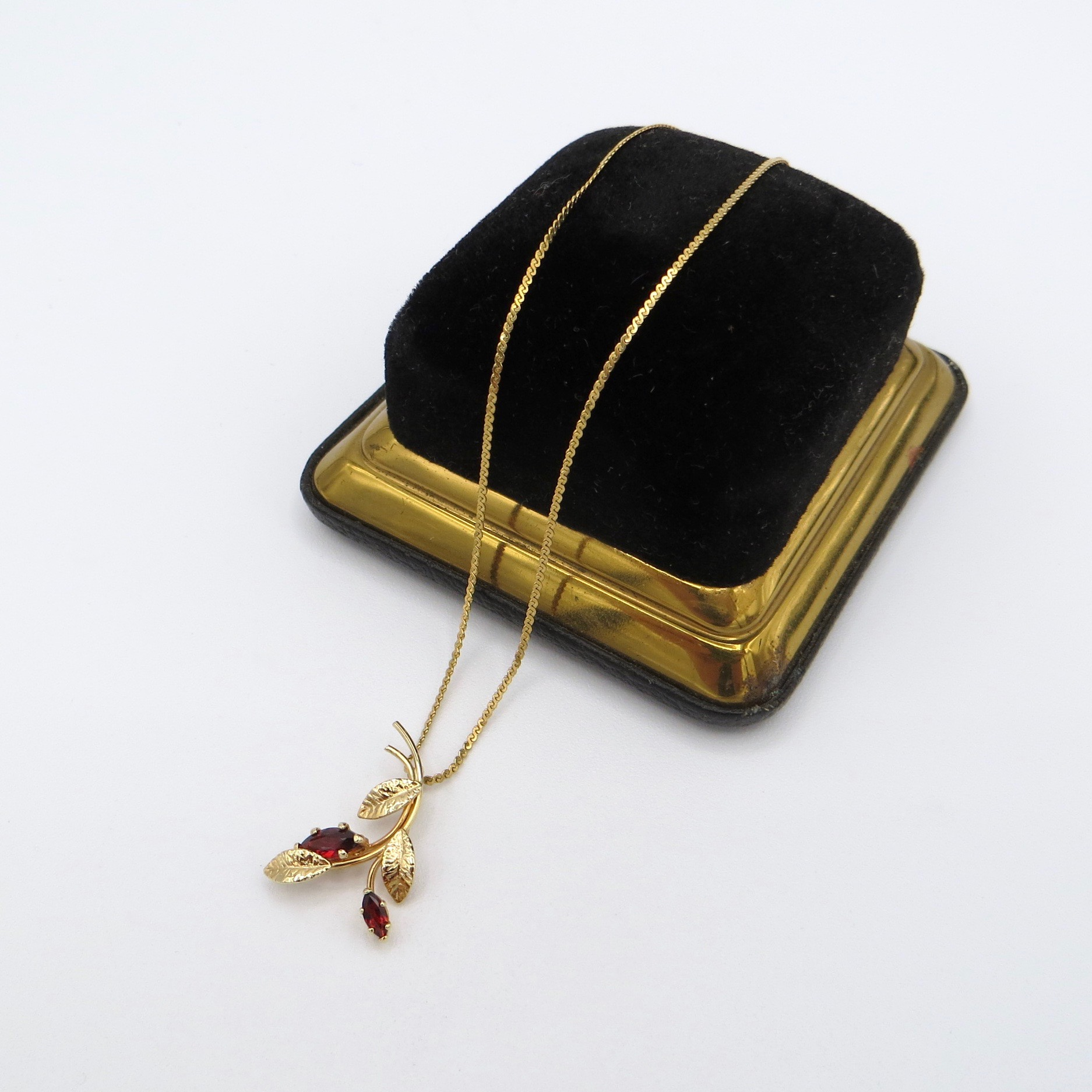 Gold-Filled Garnet Necklace