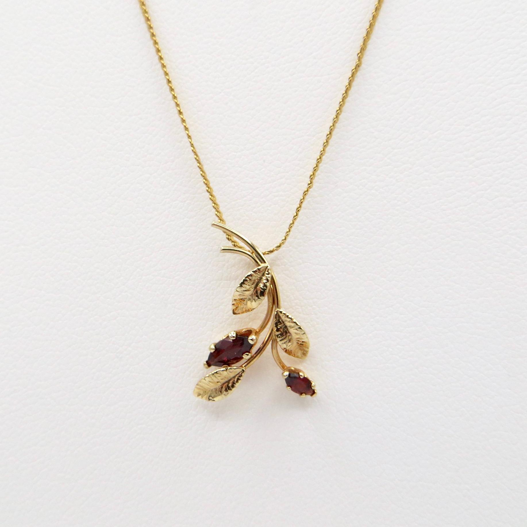 Gold-Filled Garnet Necklace