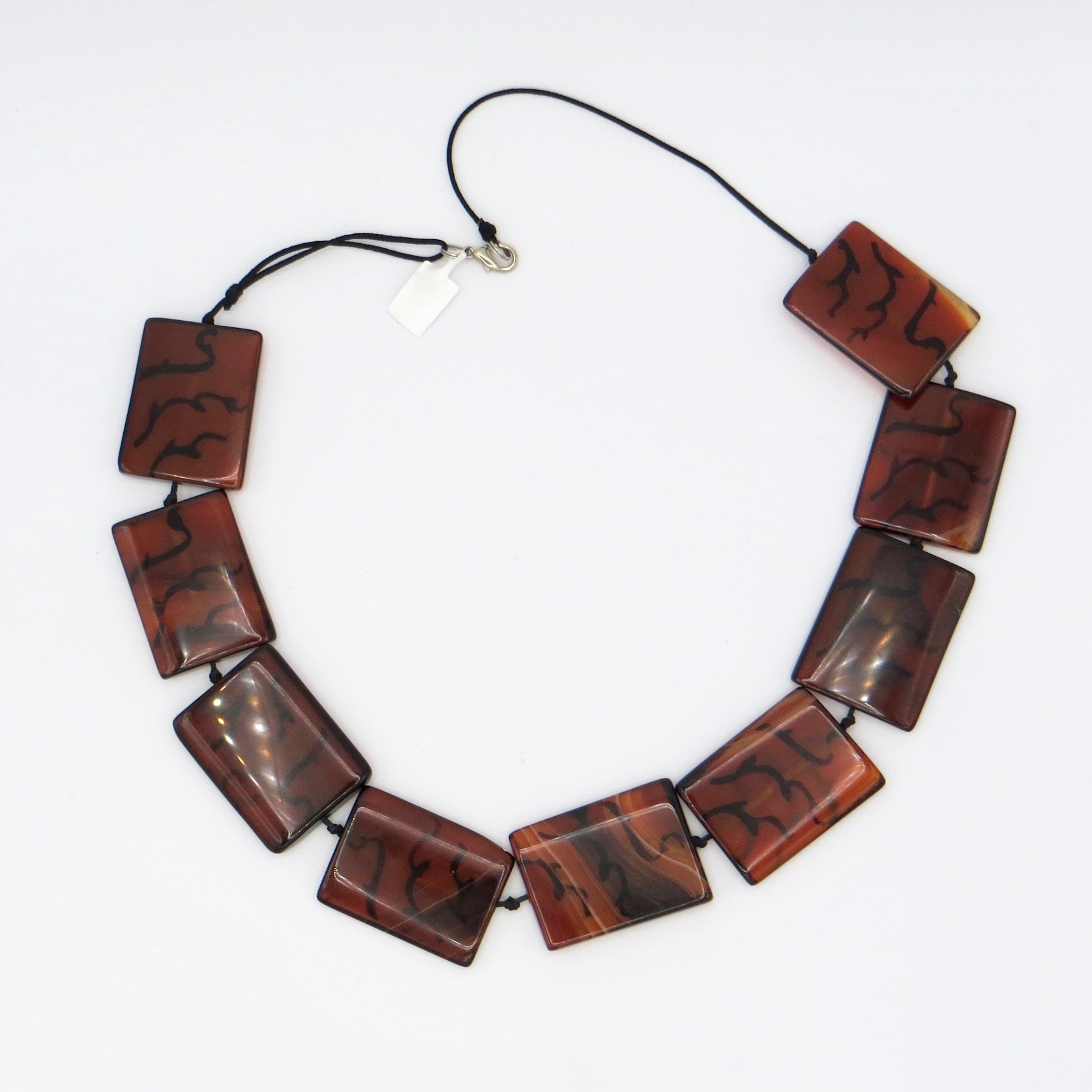 Glass Rectangle Necklace