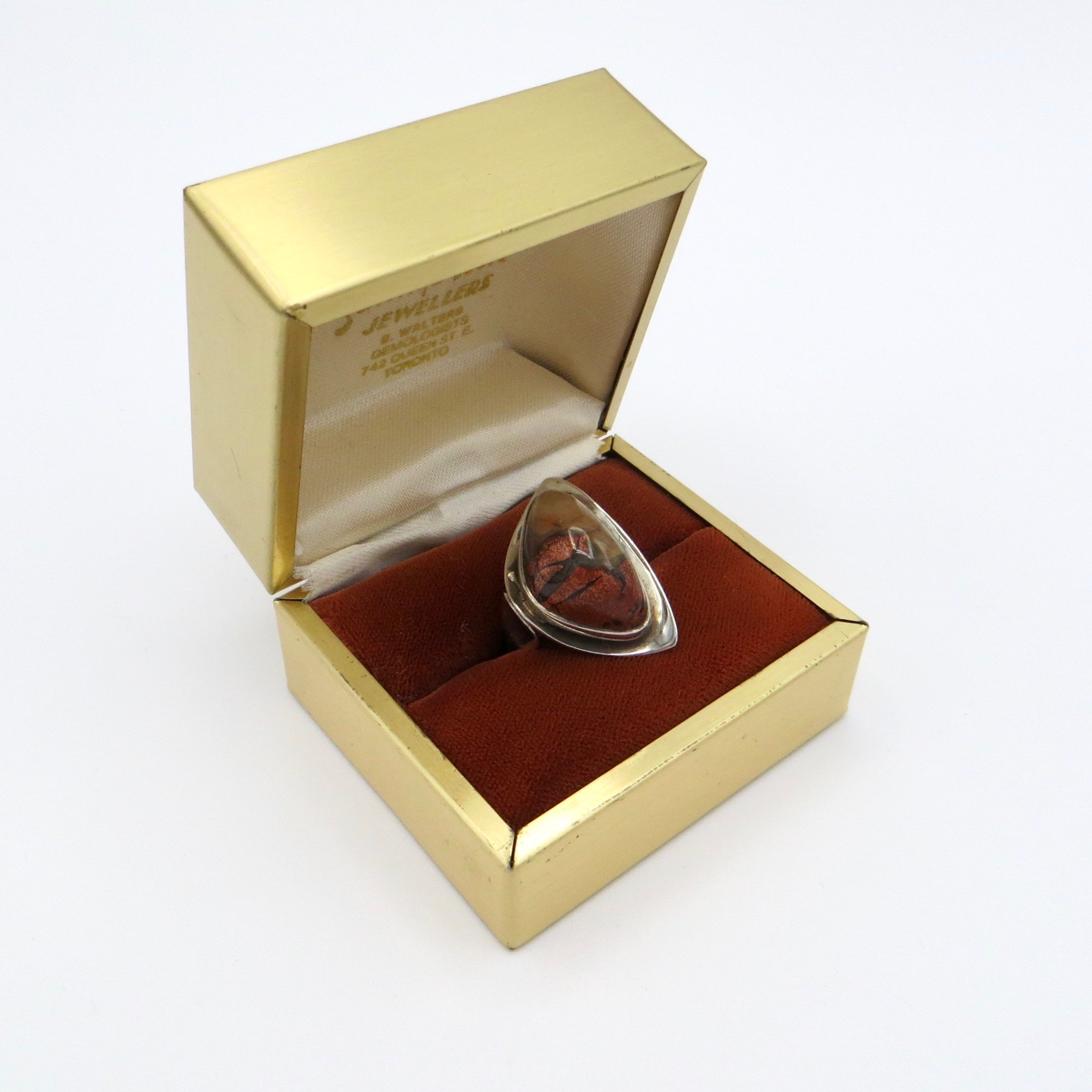 Silver & Agate Ring