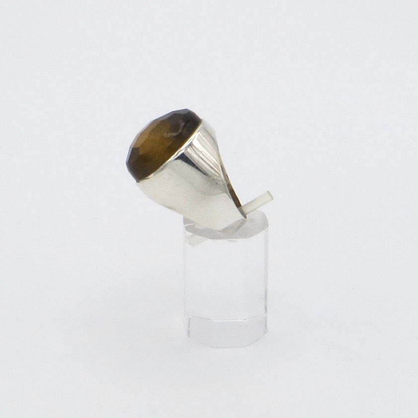 Silver & Tiger's Eye Ring