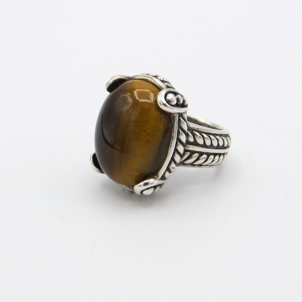 Silver Tiger's Eye Ring