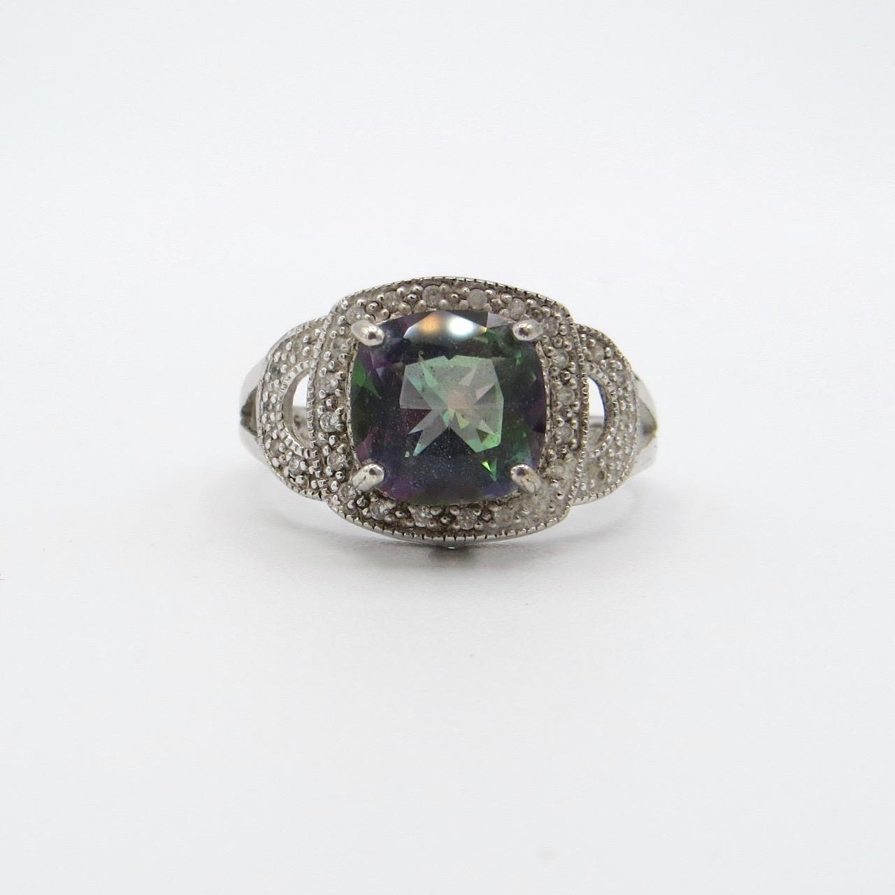 Silver & Mystic Topaz Ring