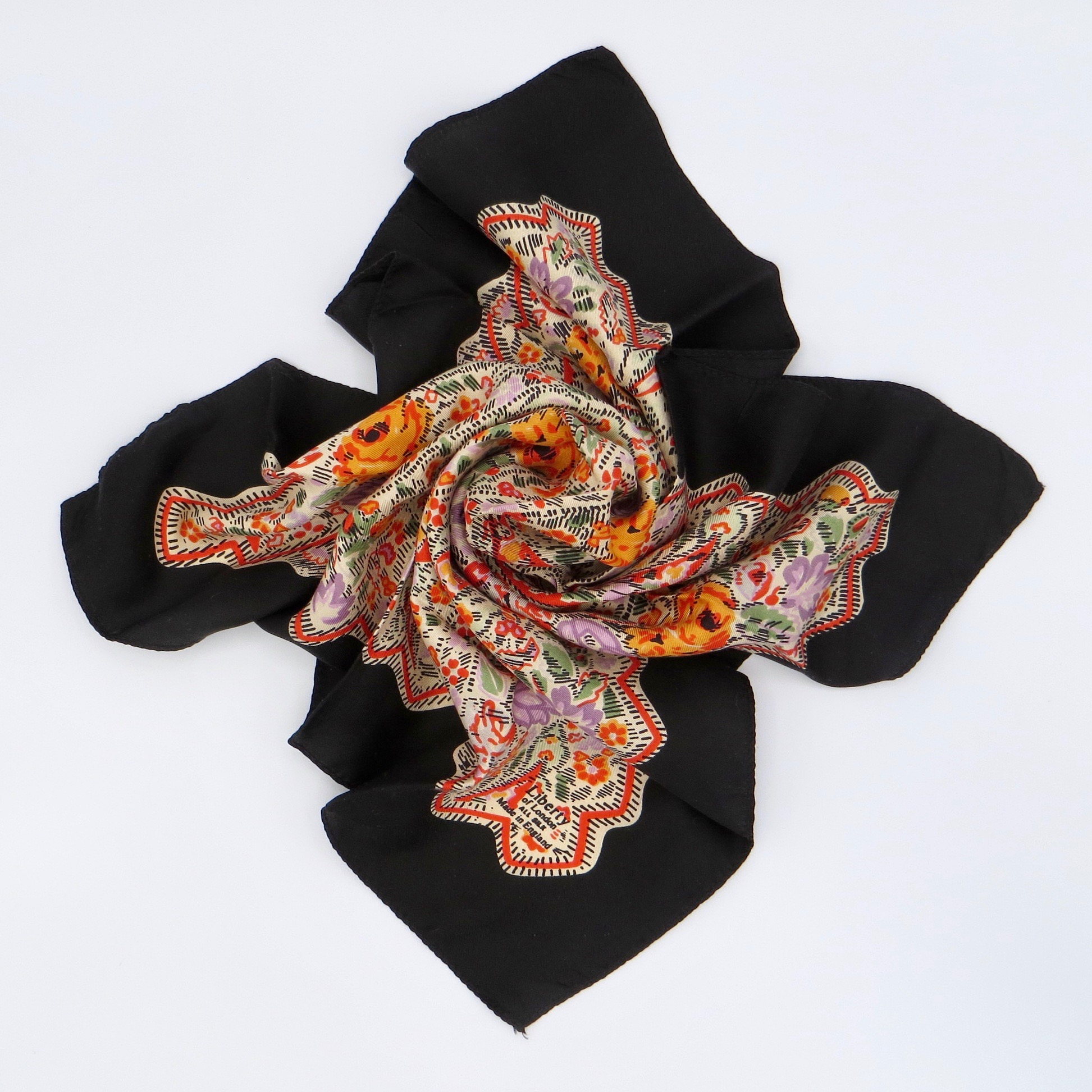 Orange Liberty Scarf