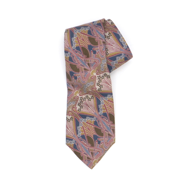 Beige, Blue & Pink Liberty Tie