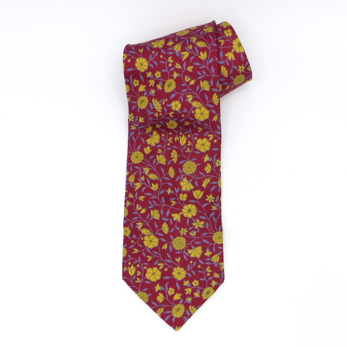 Red & Yellow Floral Liberty Tie