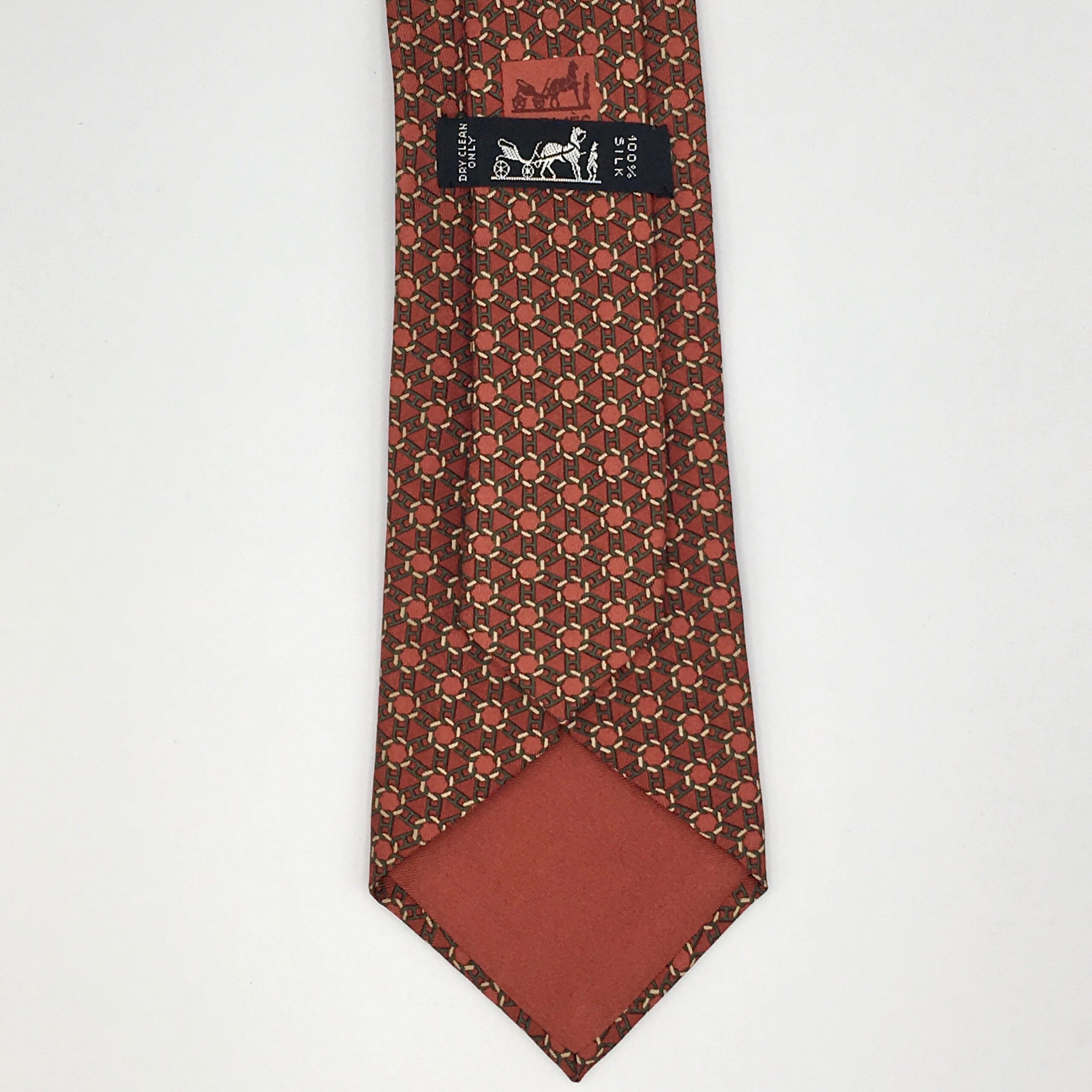 Orange Hermés Tie