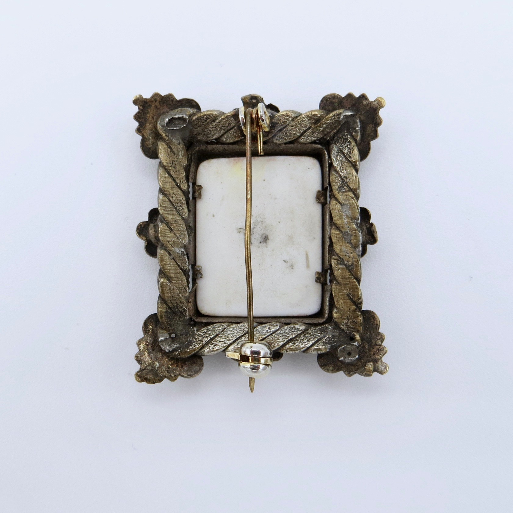 Porcelain Panel Brooch