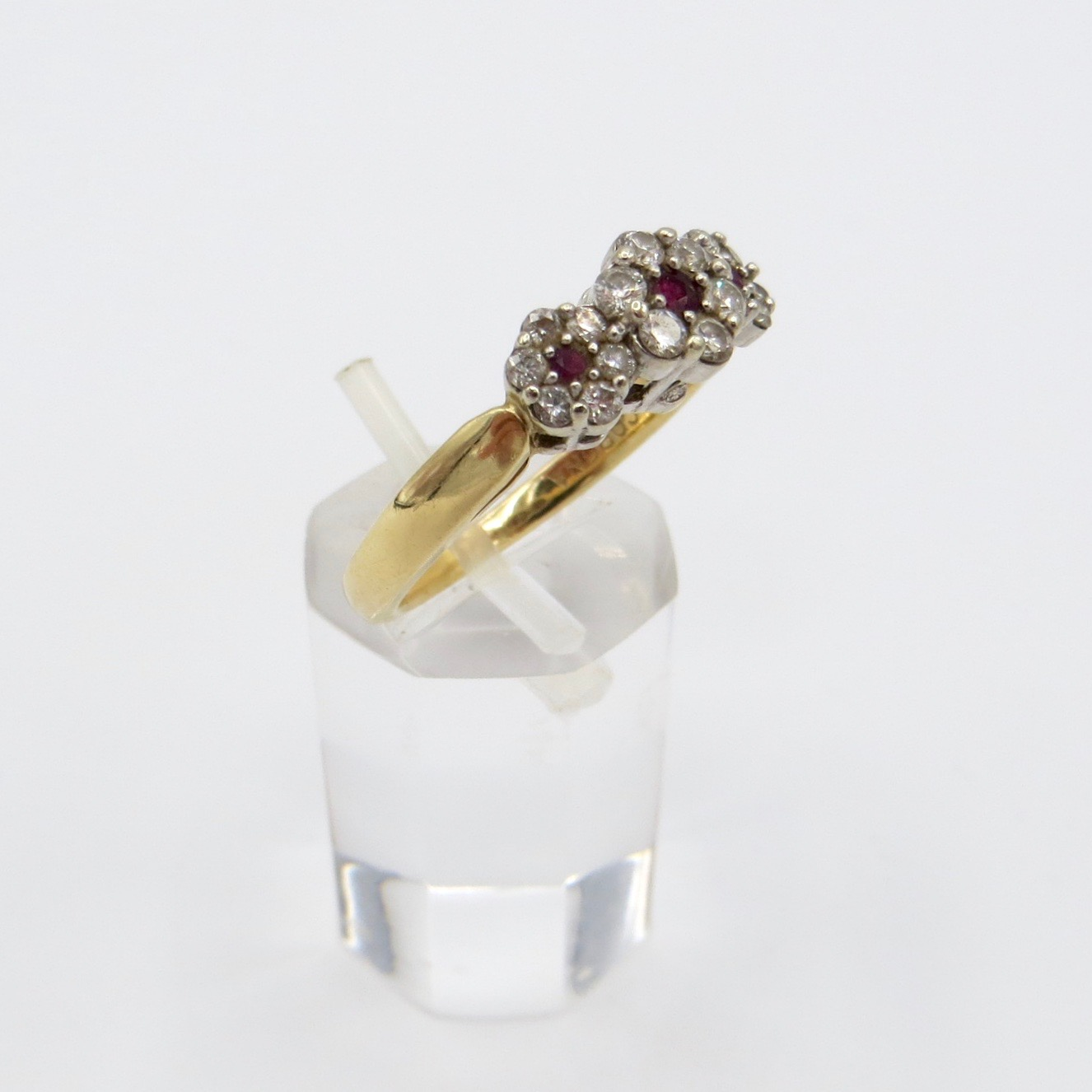 Ruby & Diamond Floral Ring