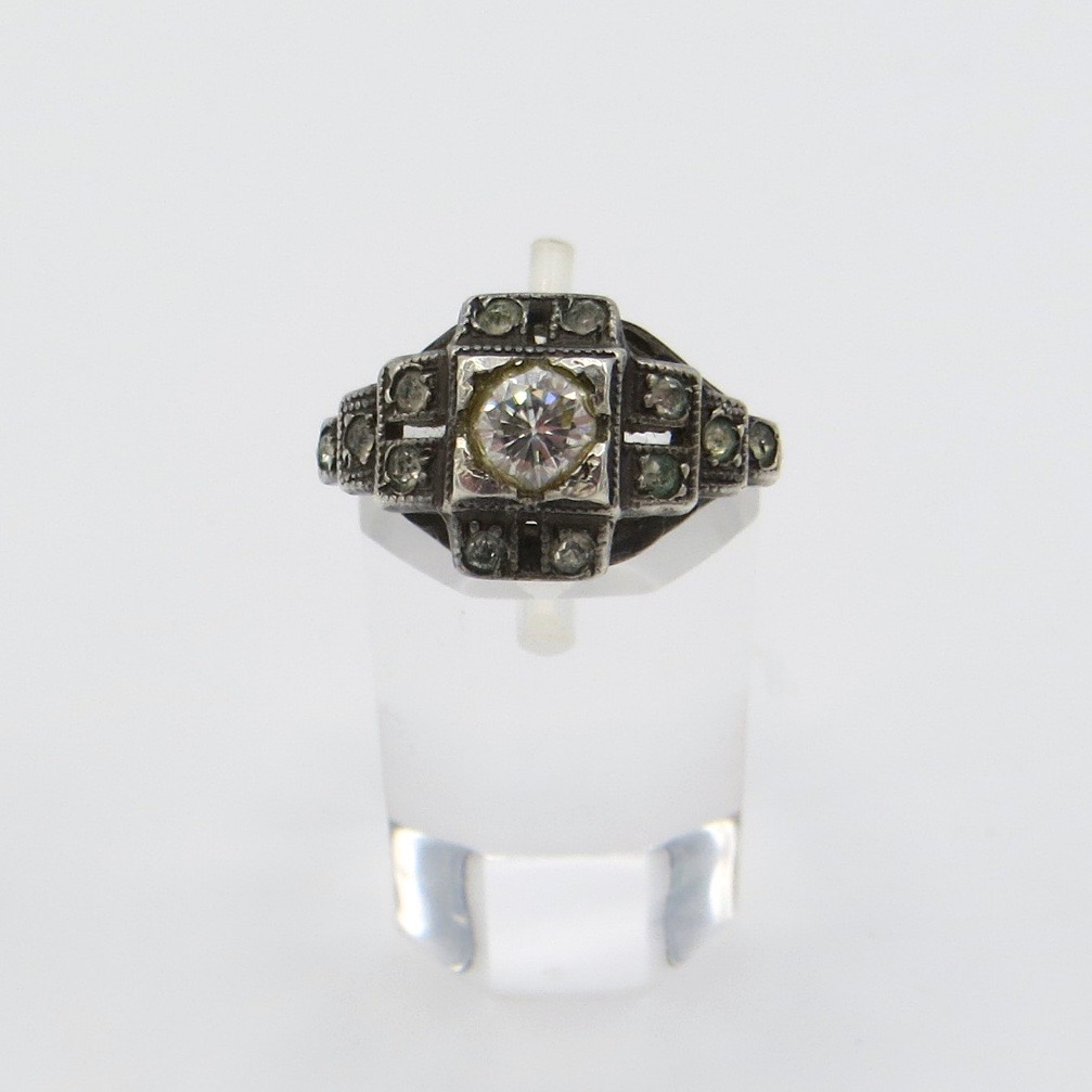 1920s Sterling Silver Ring