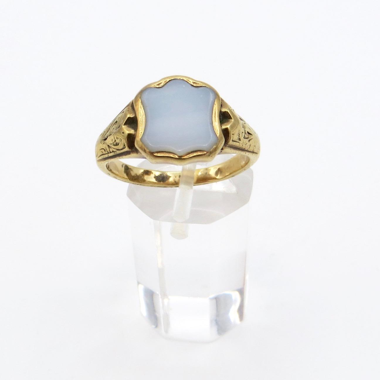 Victorian 14kt Gold & Sardonyx Ring