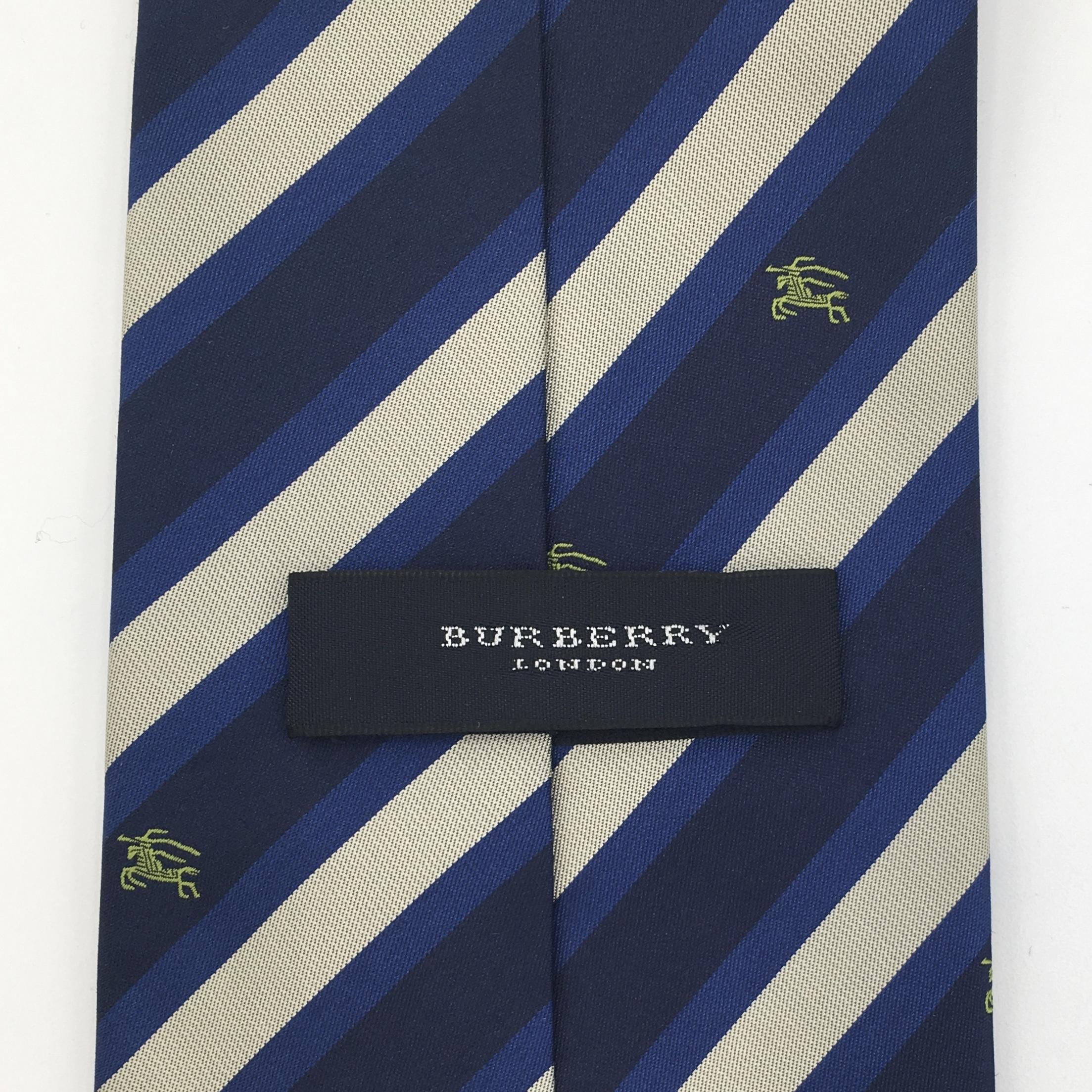 Blue Striped Burberry Tie