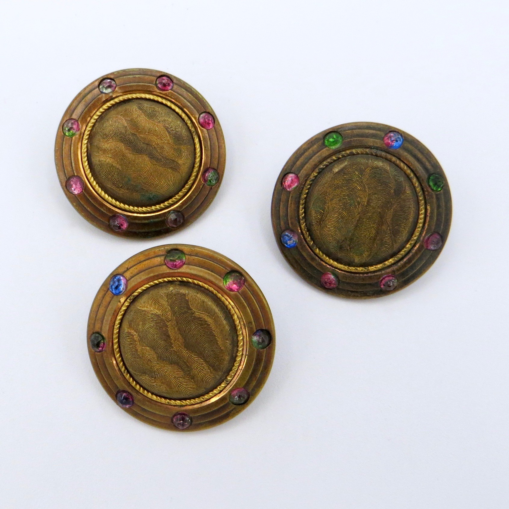 Three Rhinestone Buttons