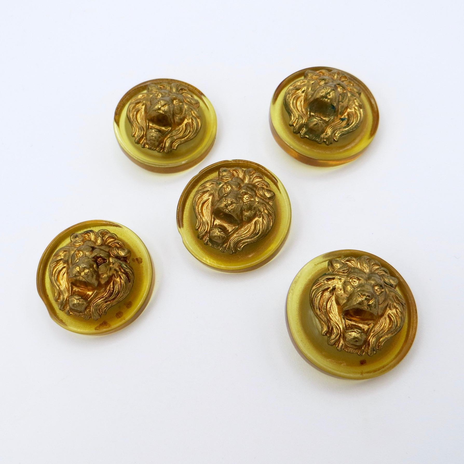 Lion Lucite Buttons