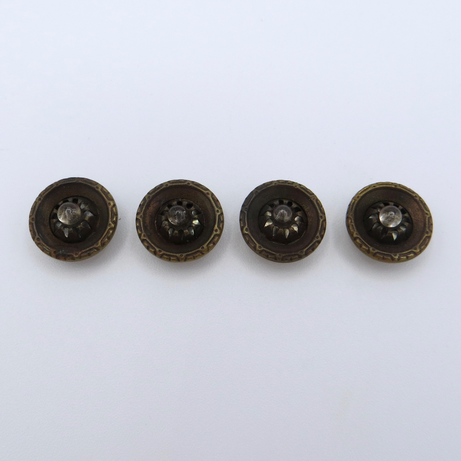 Brass & Glass Buttons