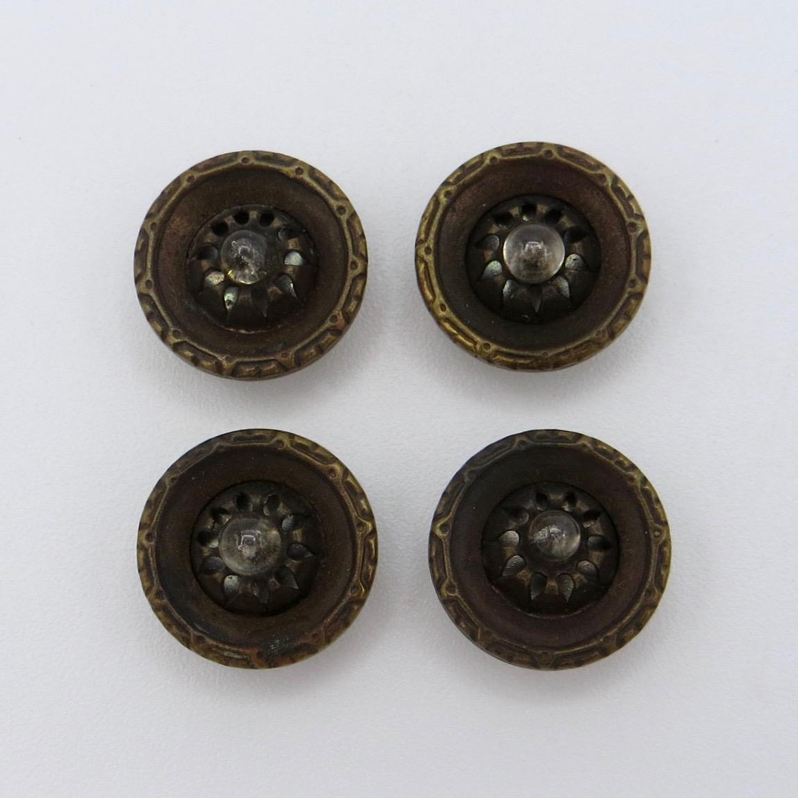 Brass & Glass Buttons