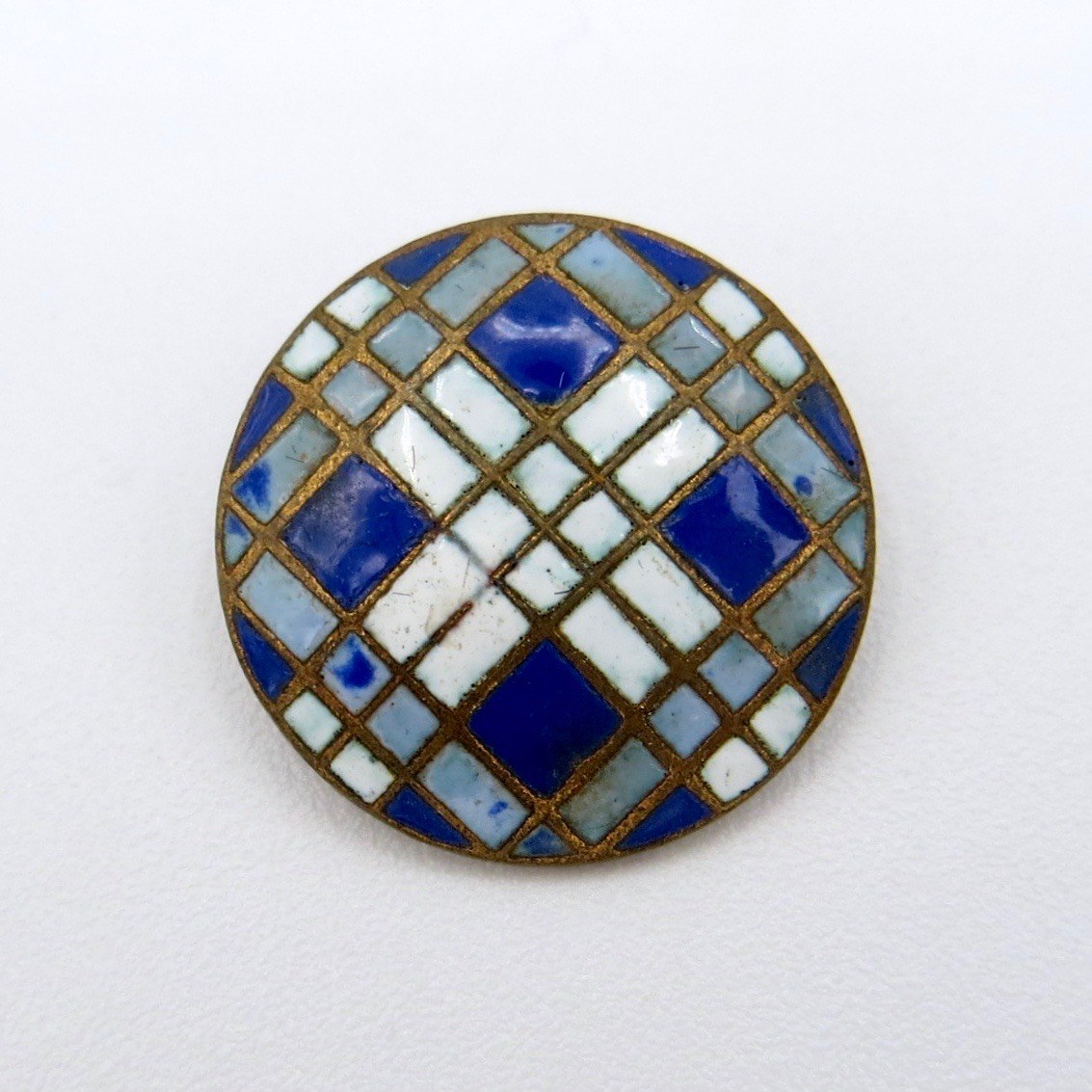 French Enamel Button