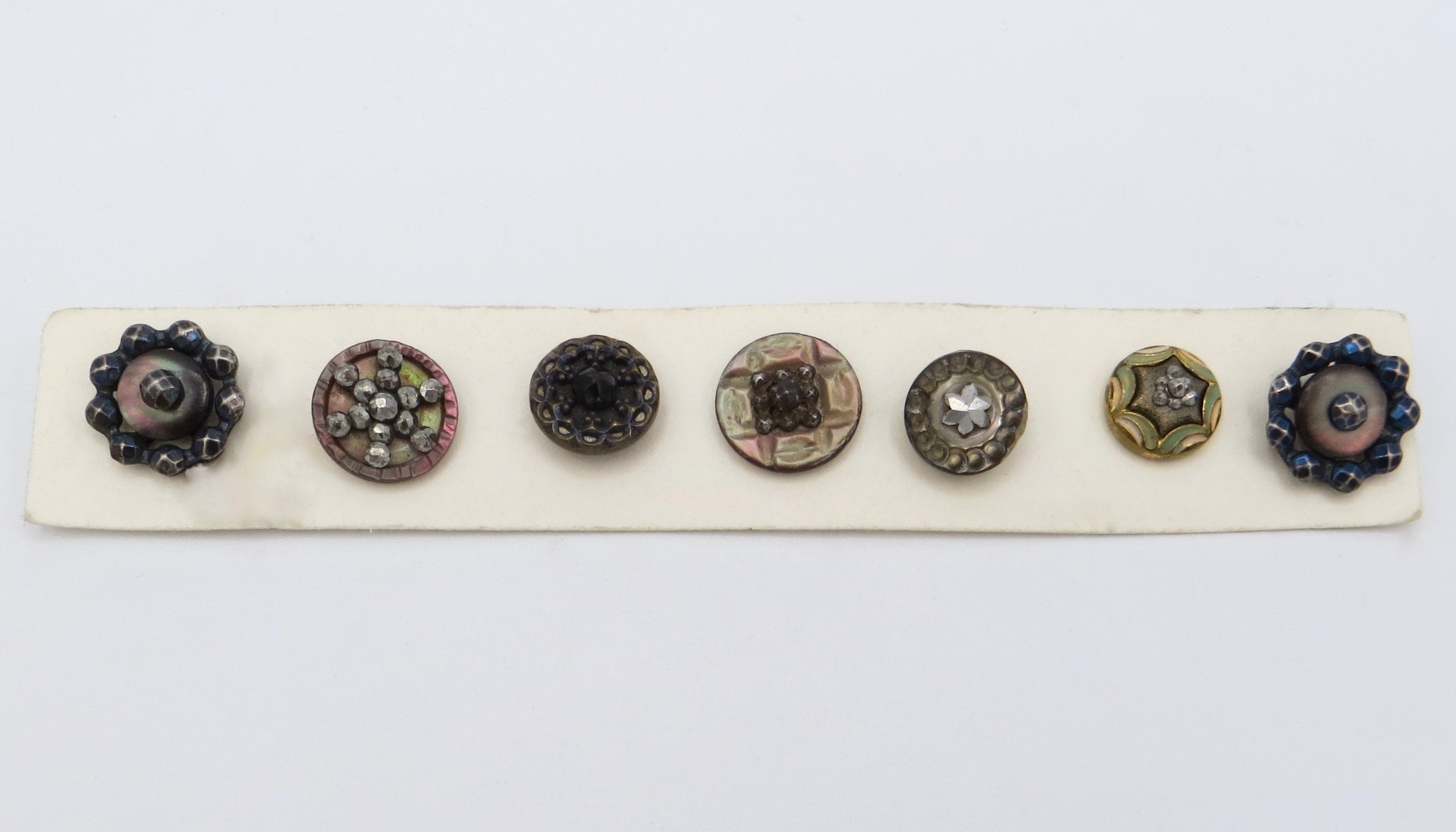 Eight Assorted Victorian Buttons