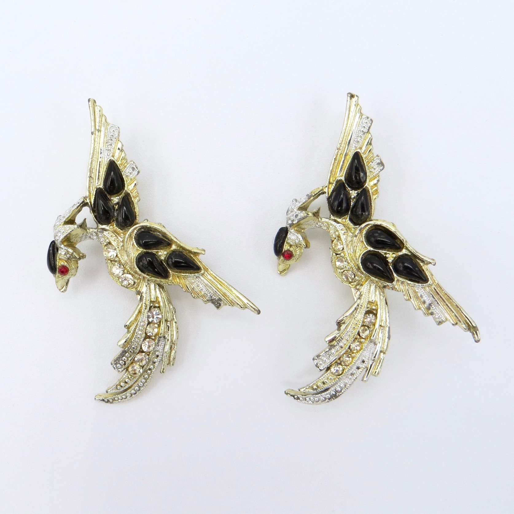 Pair of Bird Brooches