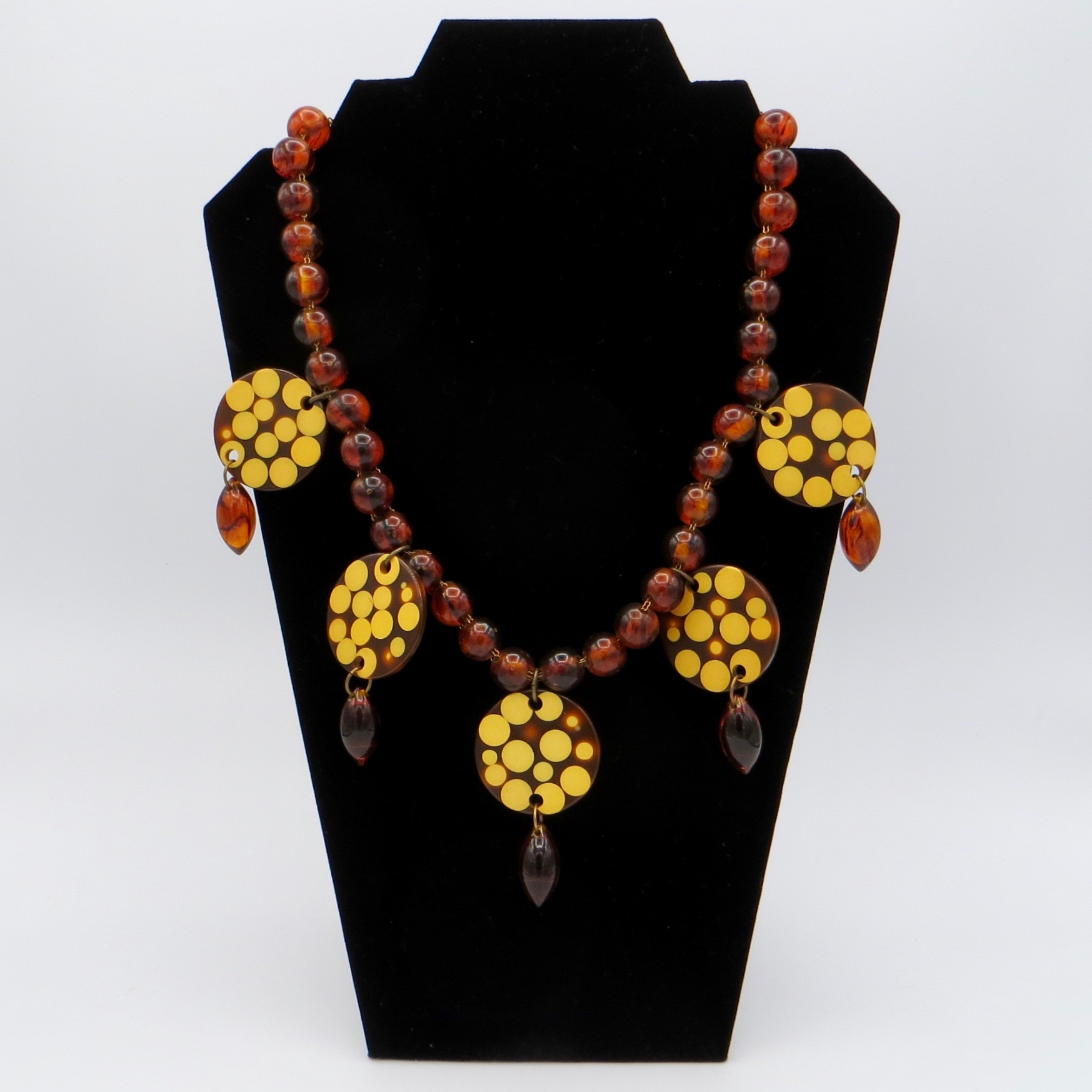 Bakelite Dot Necklace