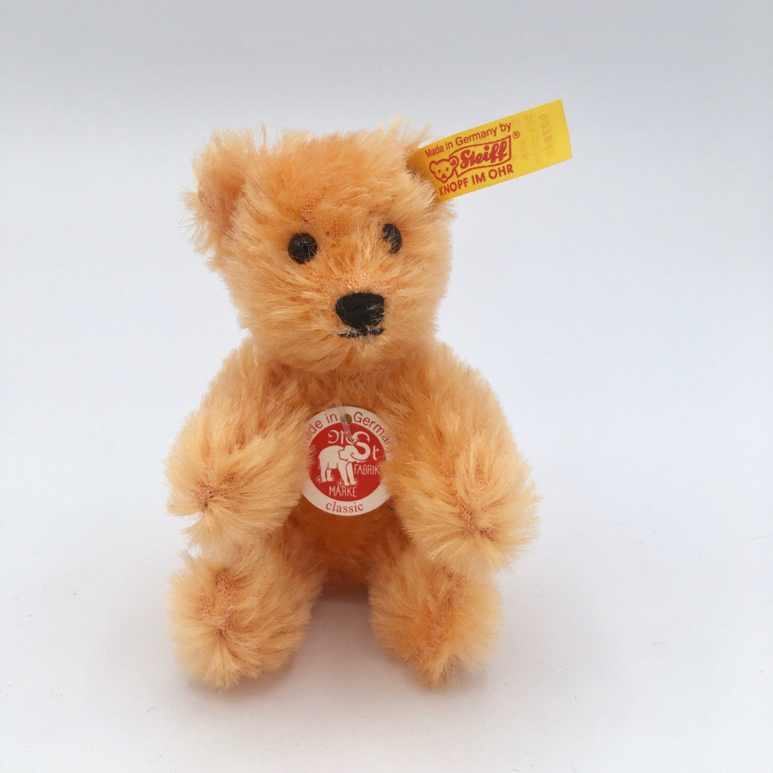 Orange Steiff Bear