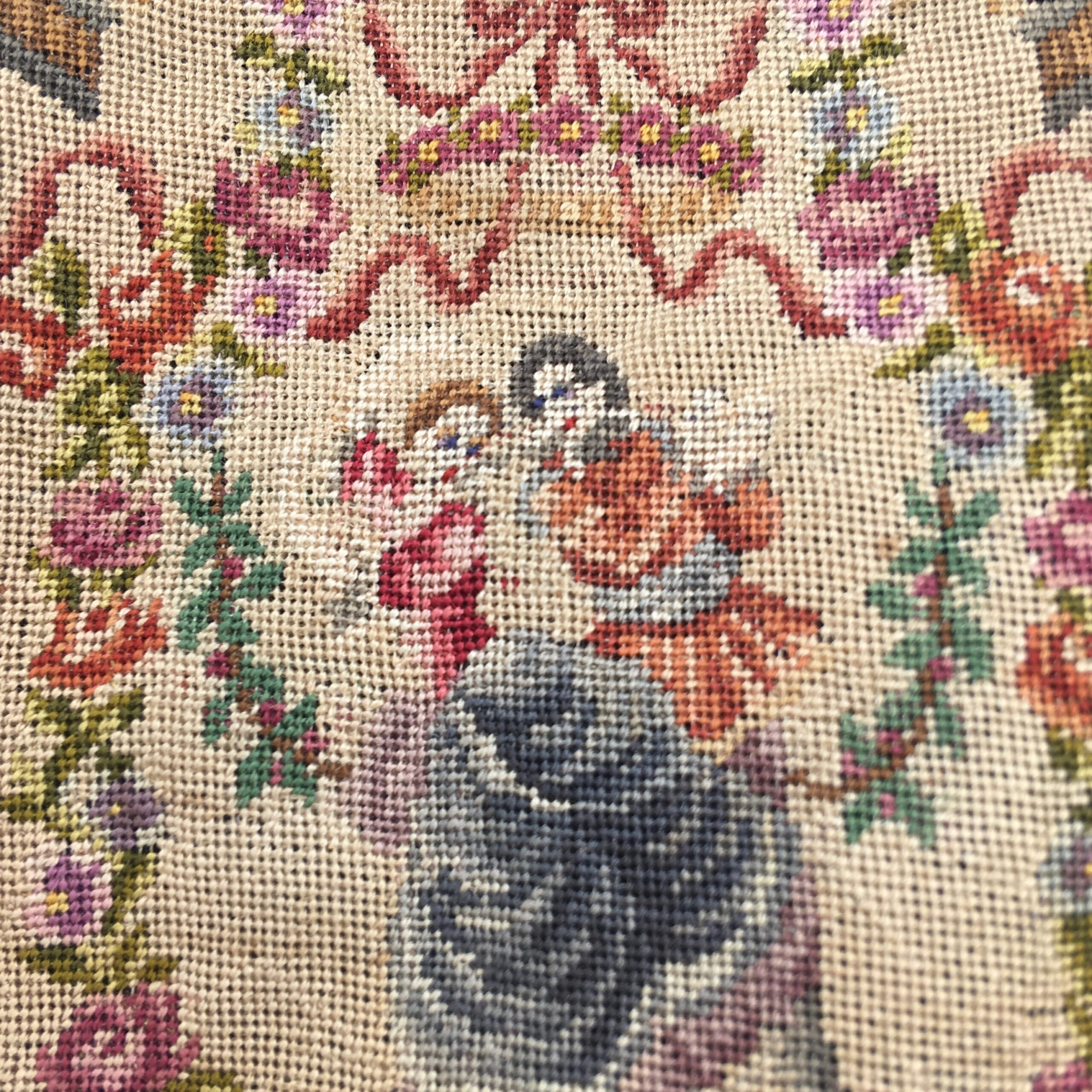 Early 20th Century Needlepoint Purse