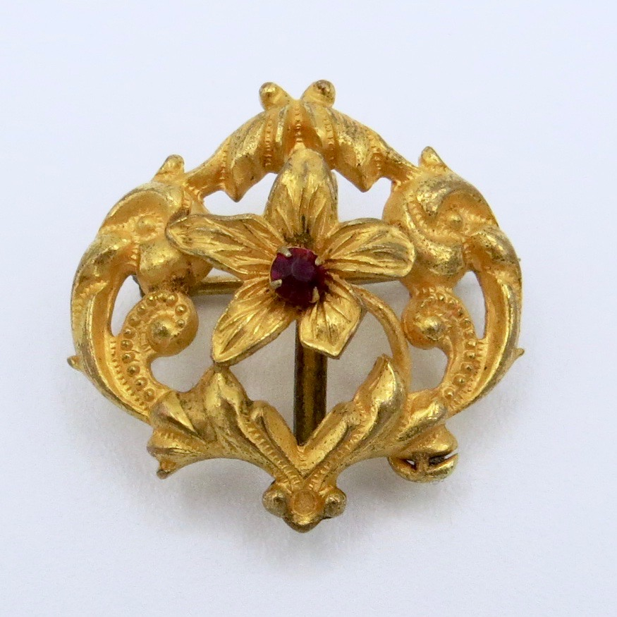 Floral Watch Pin