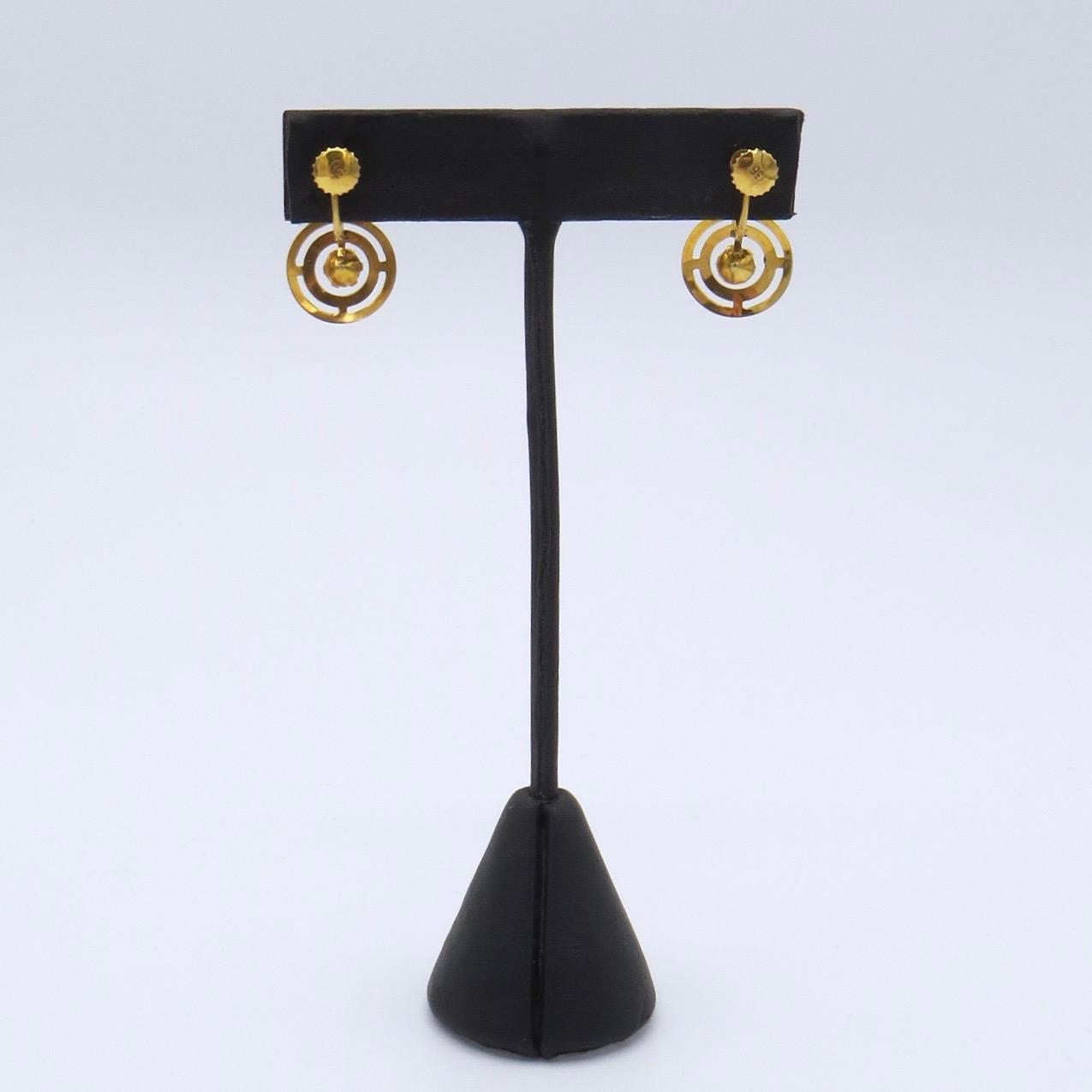 Garnet Screwback Earrings