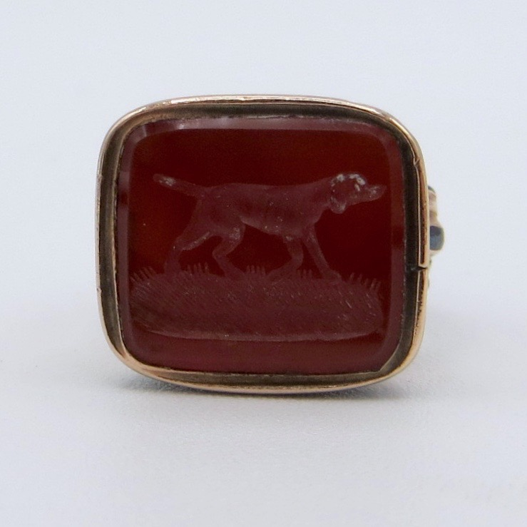 Carnelian Dog Watch Fob