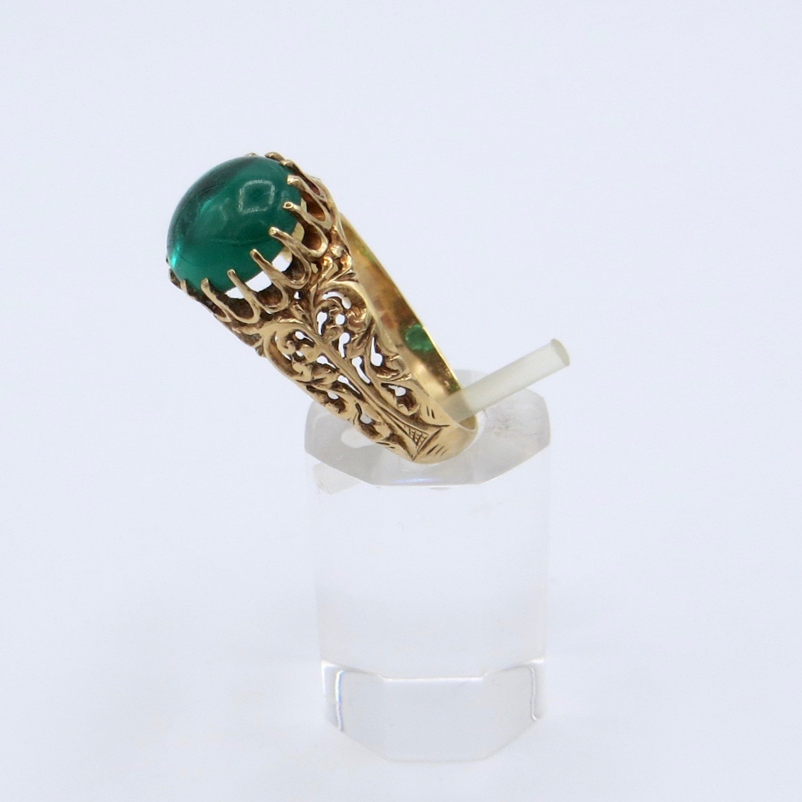 Victorian Green Stone Ring