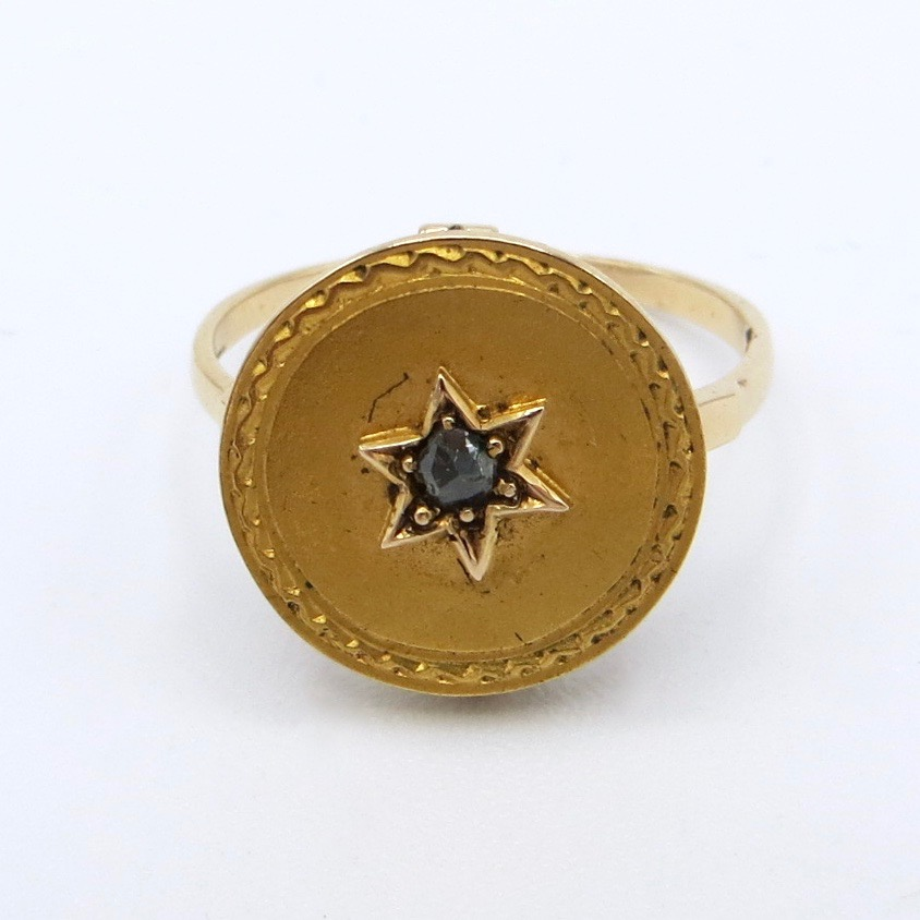 14kt Gold & Diamond Star Ring