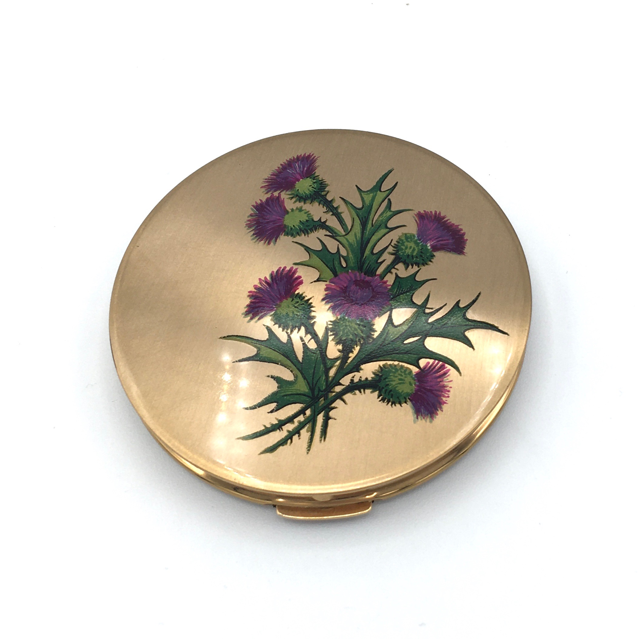 Stratton Compact with Thistle Design