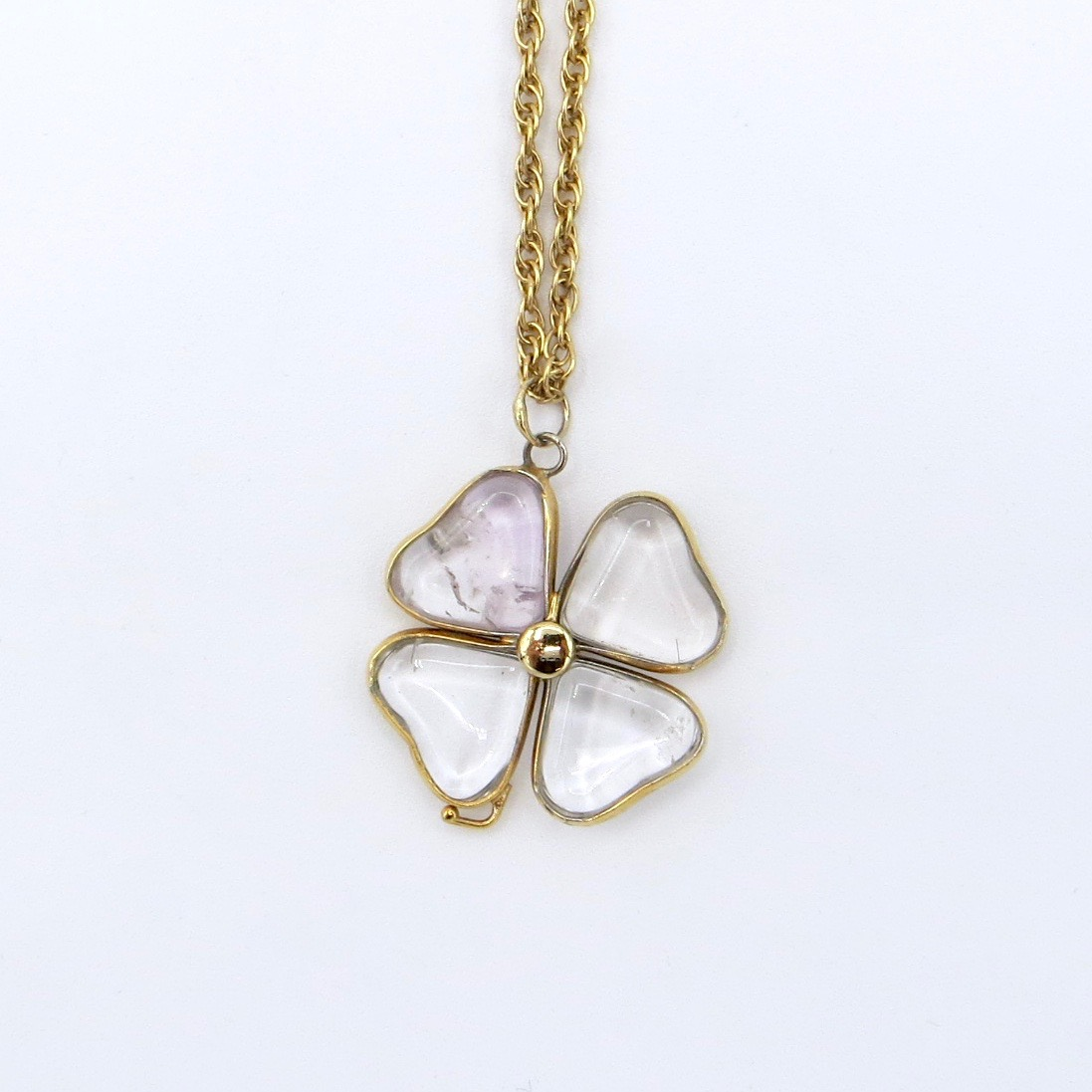 Quartz Clover Necklace