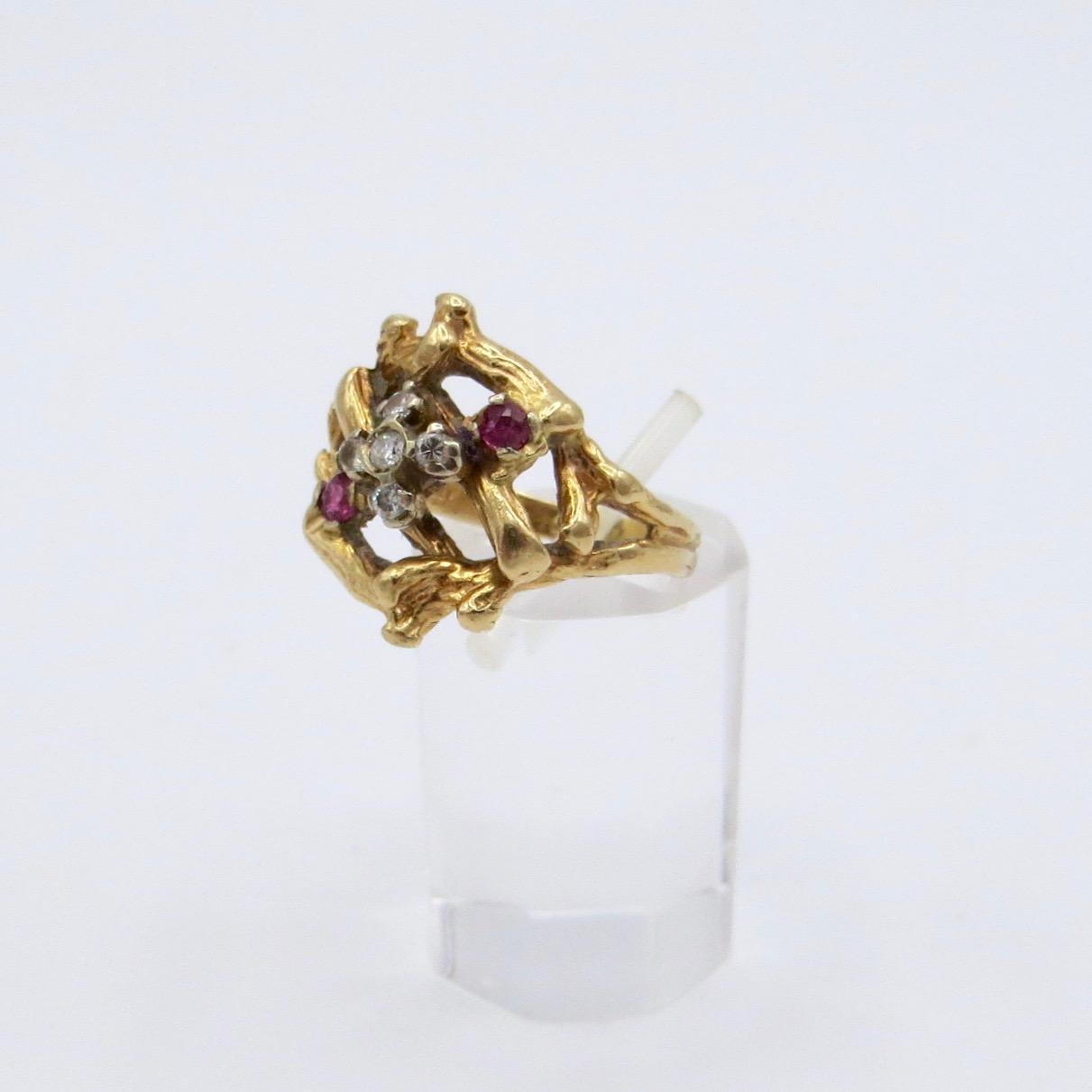 Diamond & Ruby Nest Ring