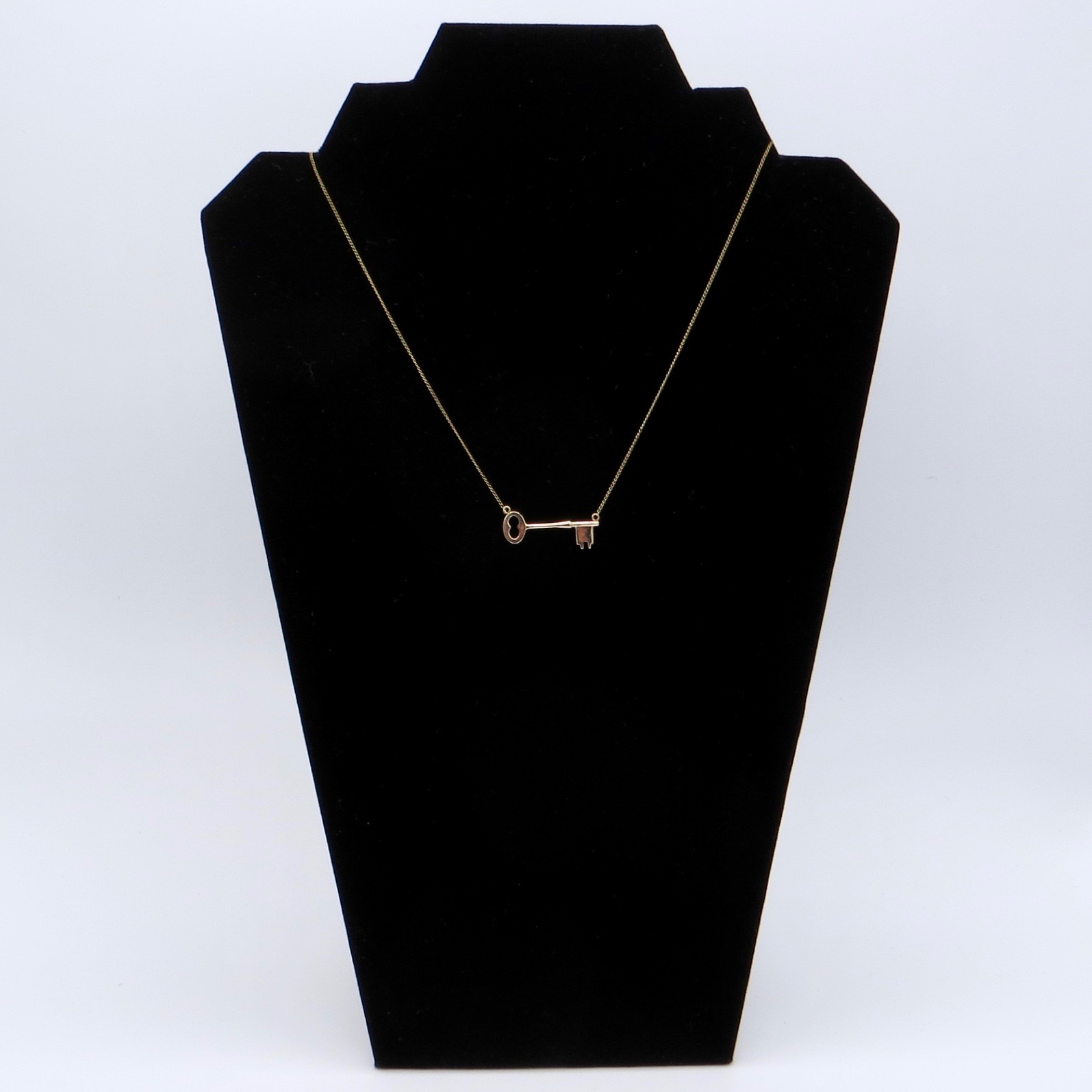 10kt Gold Key Necklace (GF Chain)