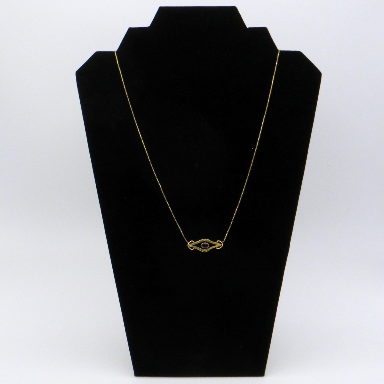 10kt Gold & Amethyst Necklace (10kt Chain)