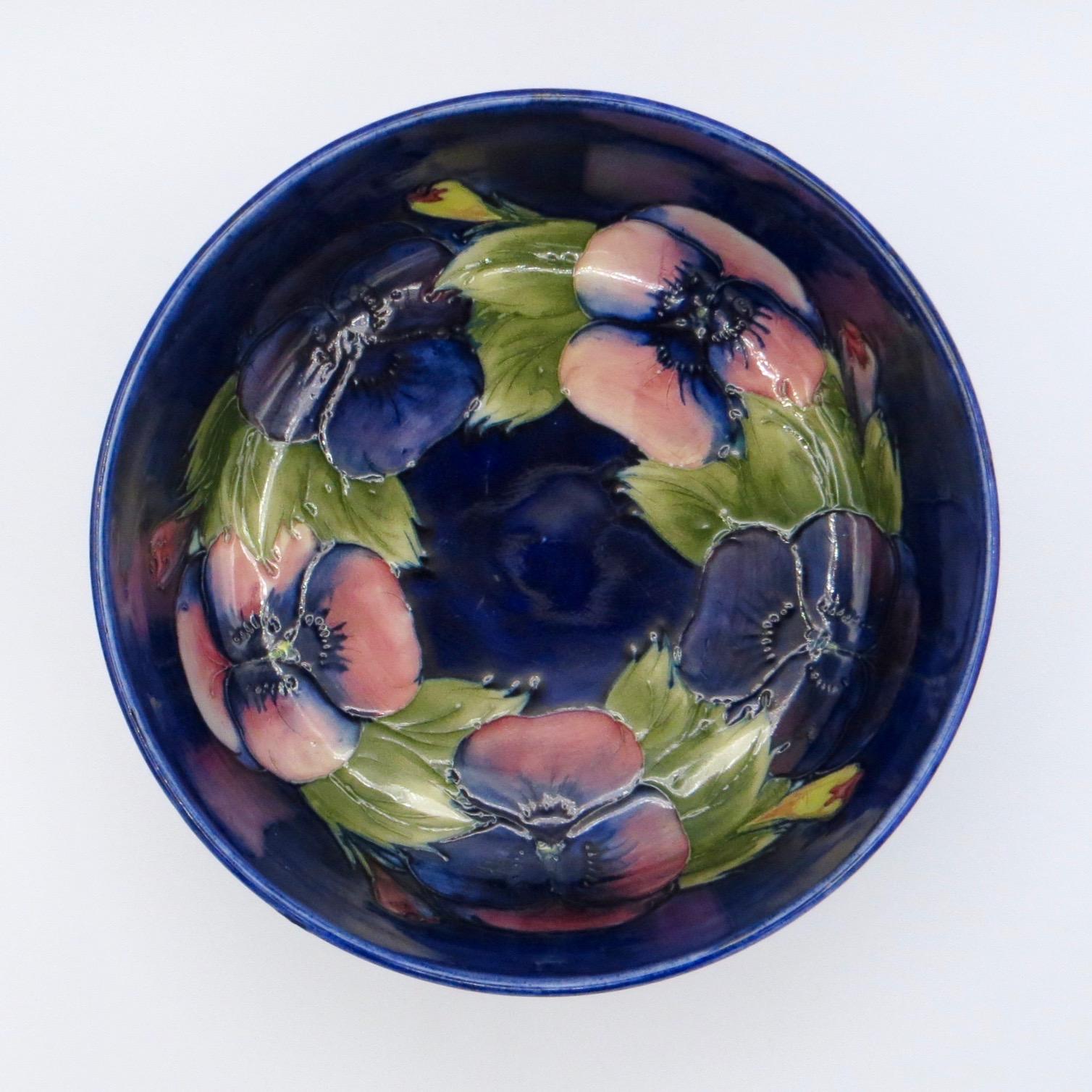 Moorcroft Pansy Bowl