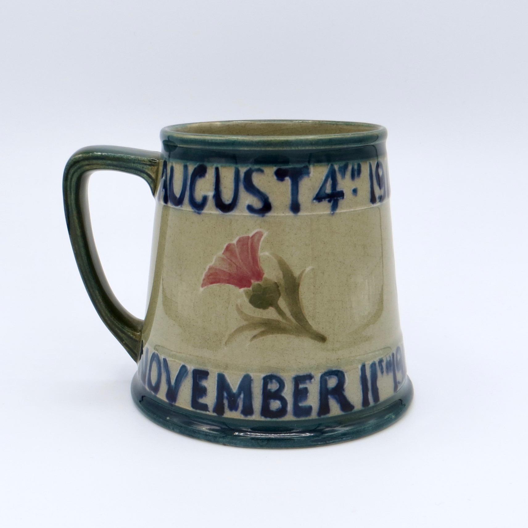 Rare Moorcroft First World War Commemorative Mug