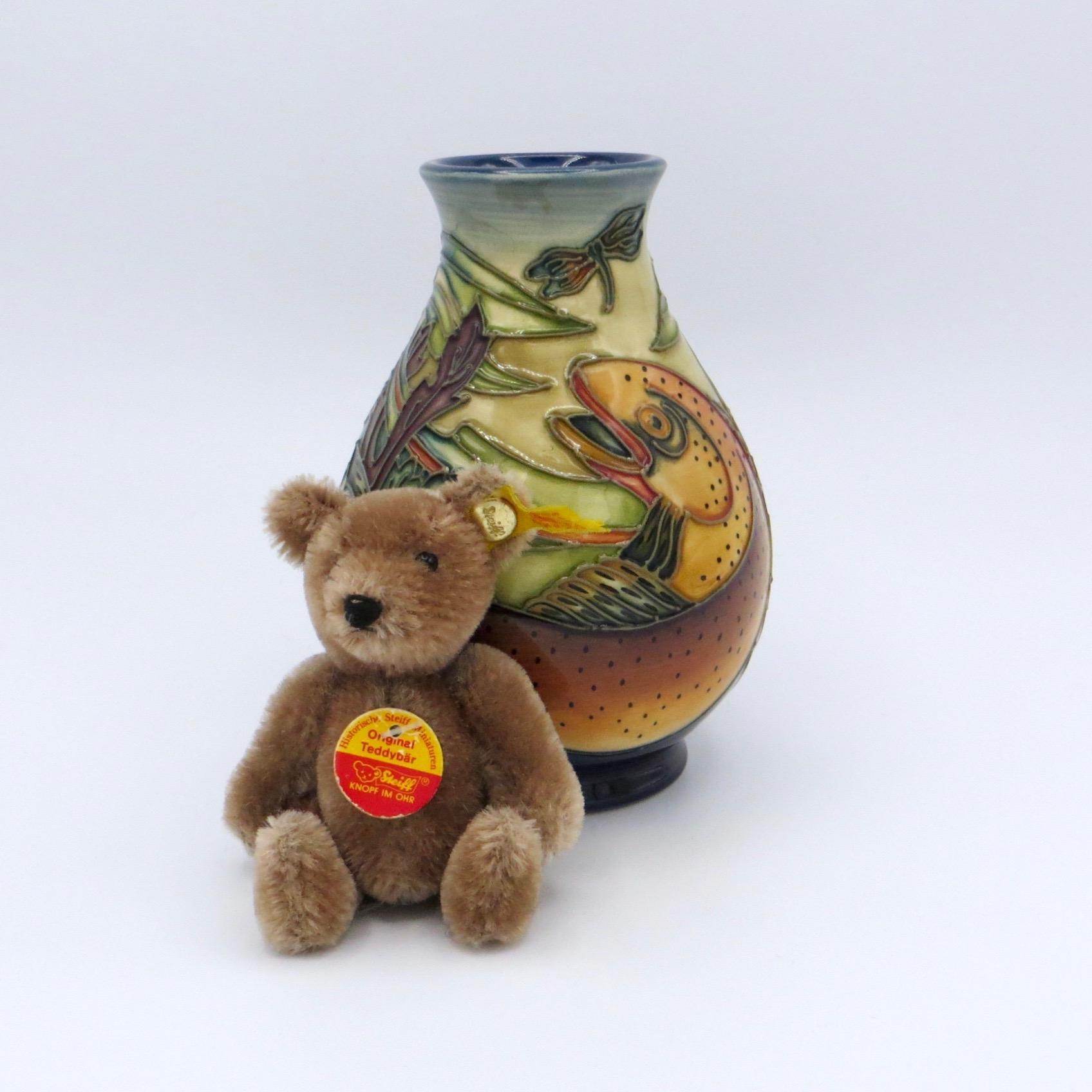 Moorcroft Trout Vase